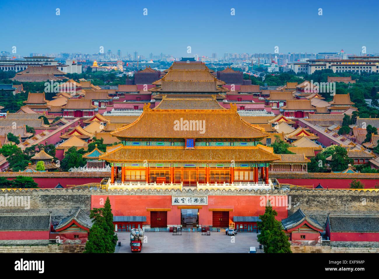Peking, China bei der alten verbotenen Stadt. Stockbild