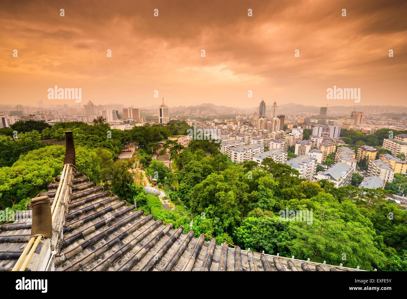 Fuzhou, Fujian, China Innenstadt Stadtbild von Zhenai Turm. Stockbild