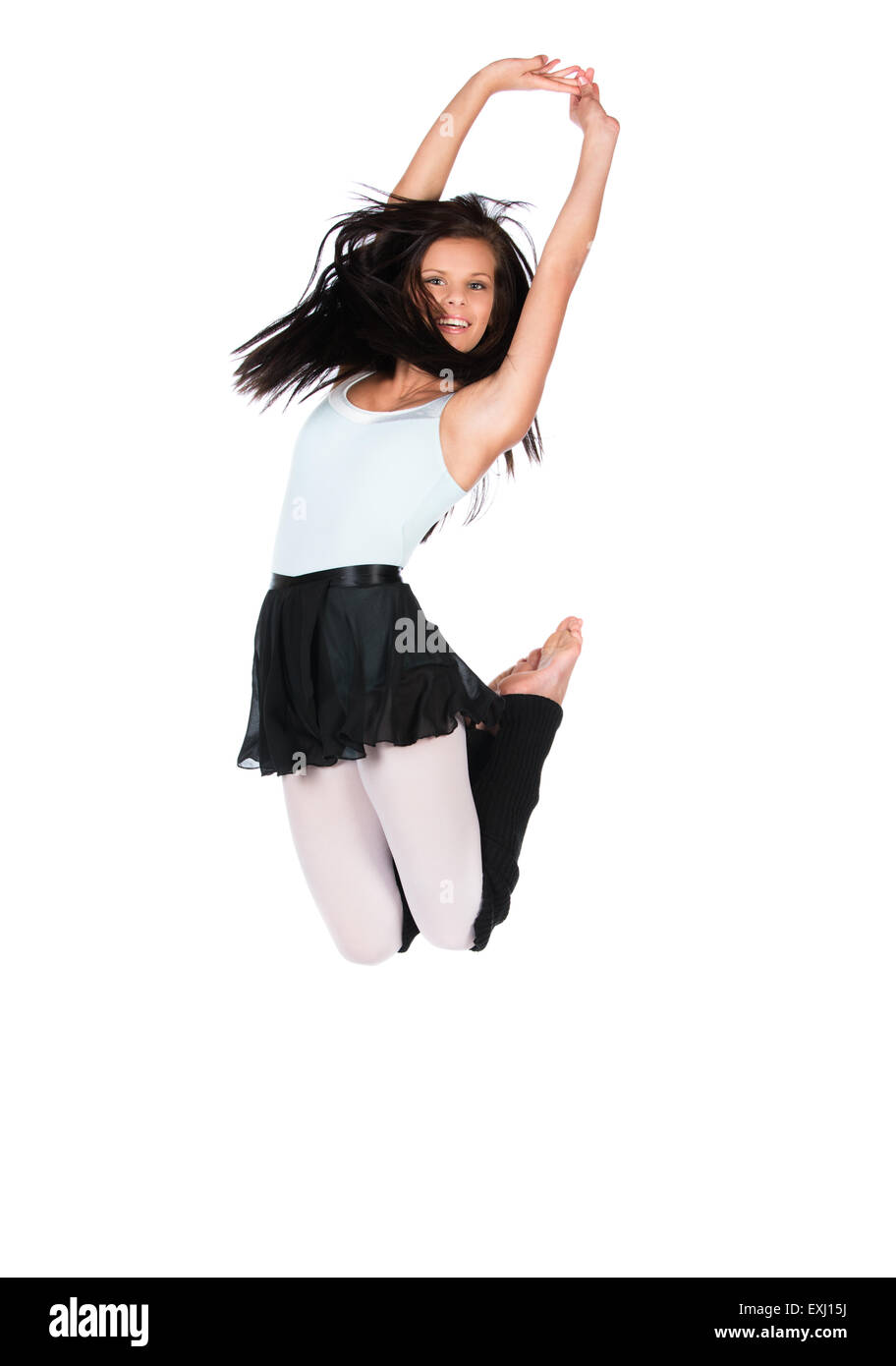 Schöne weibliche modernen jazz zeitgenössischer Stil Tänzerin ...