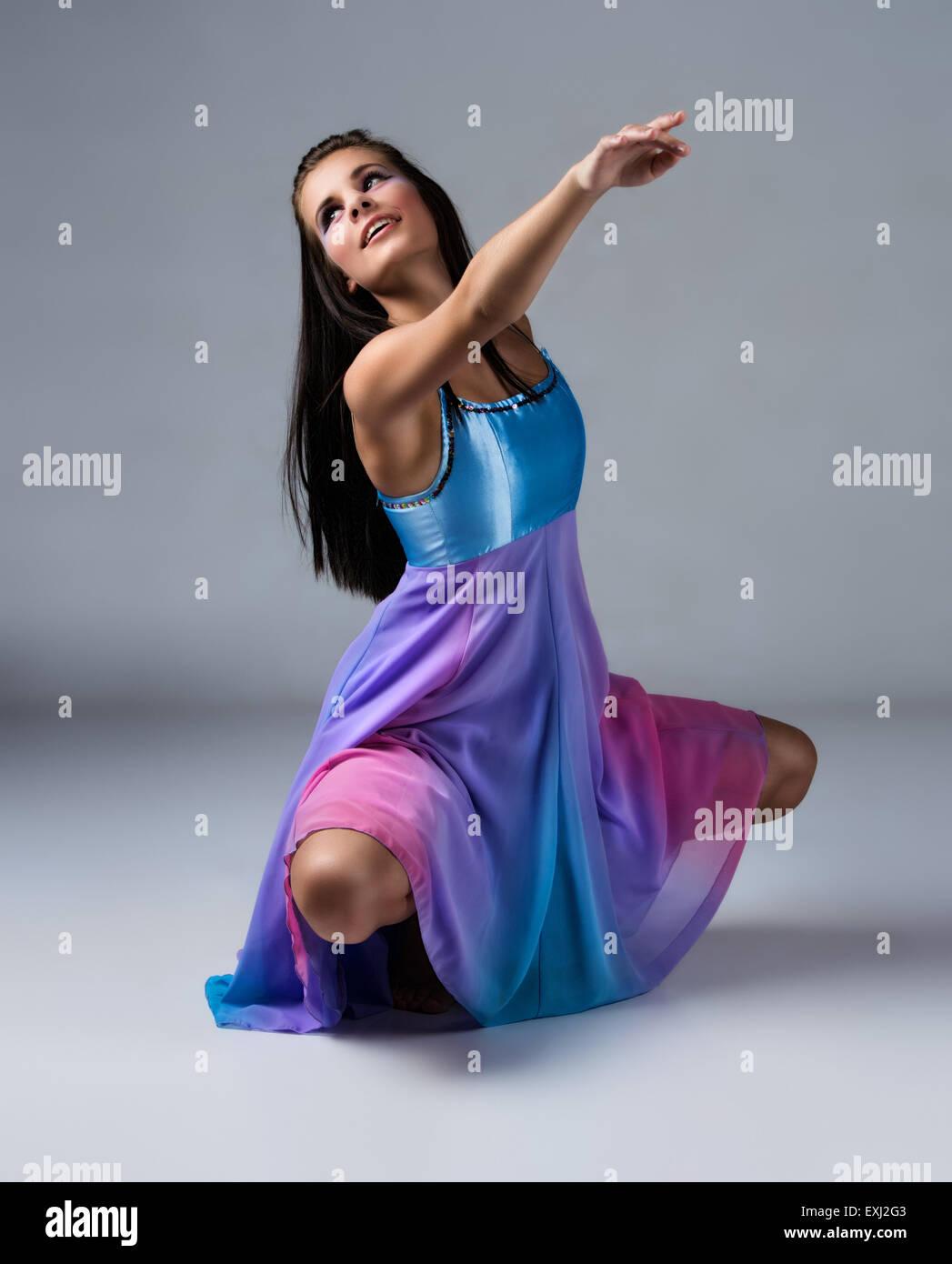 Beautiful Girl Dance Jazz Dance Stockfotos & Beautiful Girl Dance ...