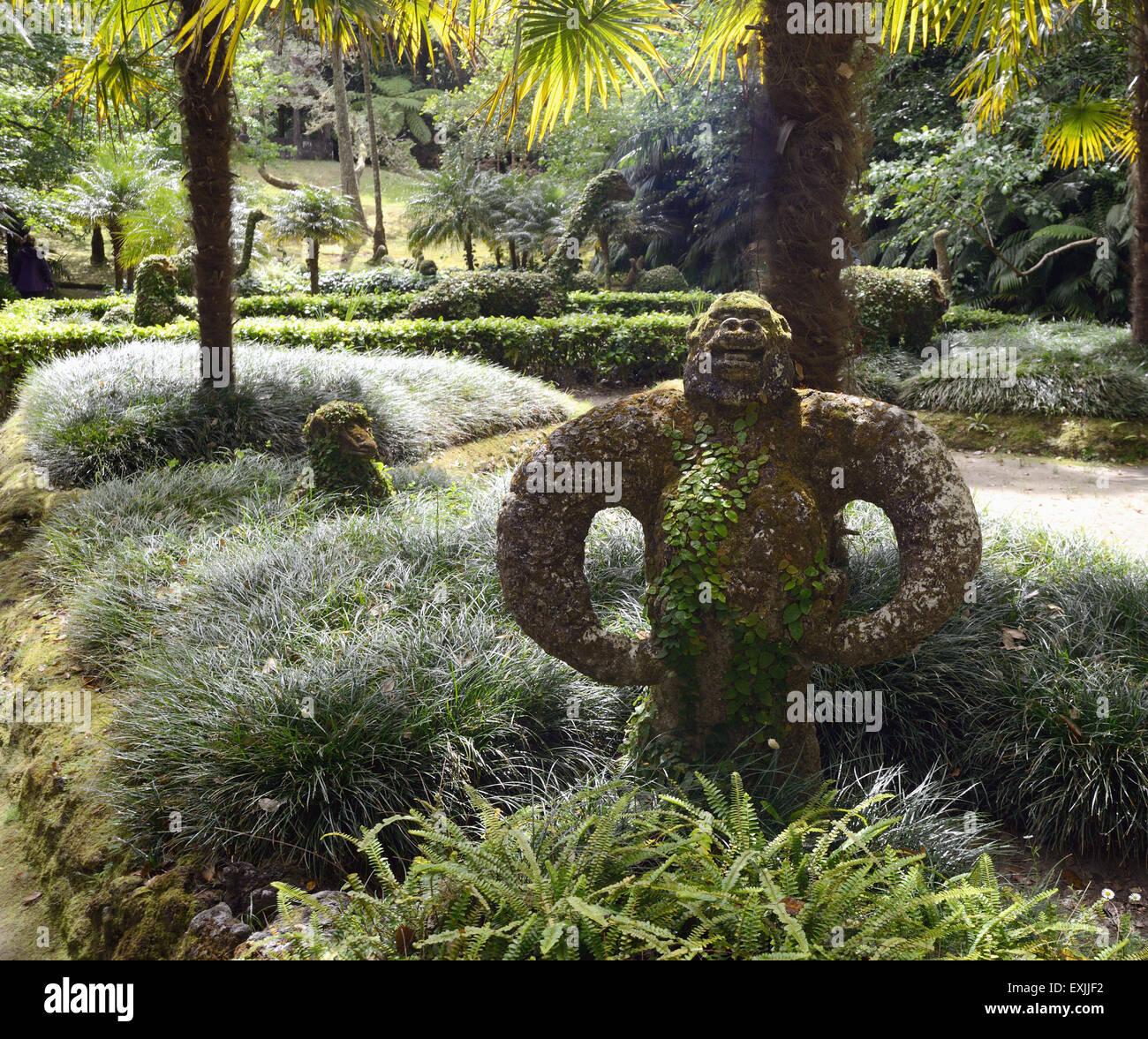 Der Tiergarten Im Terra Nostra Garden Hotel Stockfoto Bild