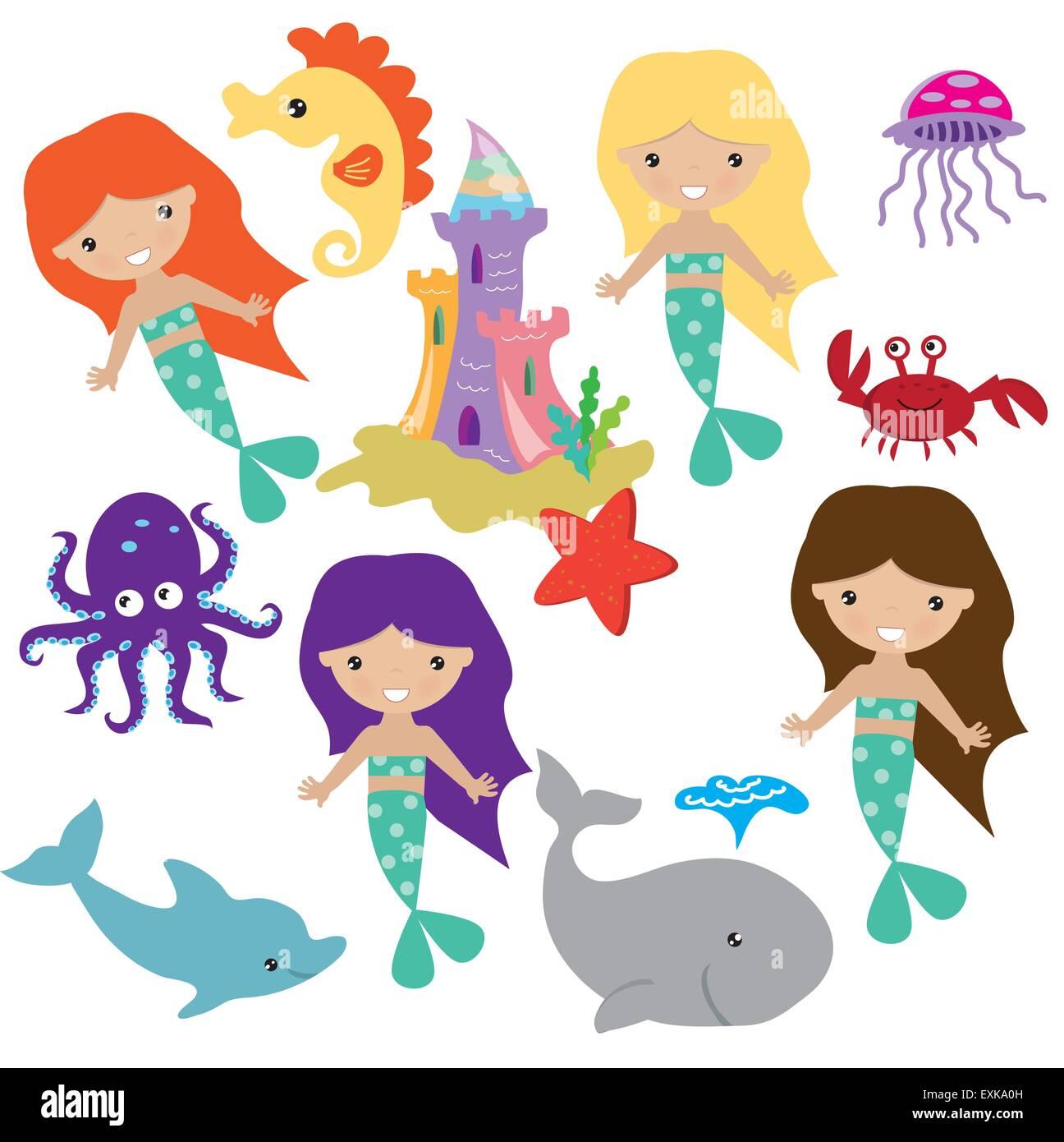 Erfreut Süße Meerjungfrau Färbung Fotos - Malvorlagen Von Tieren ...