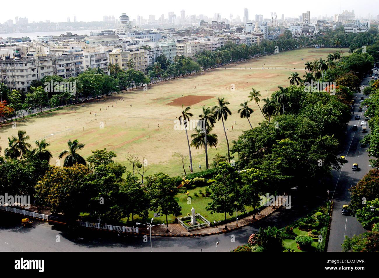 Luftaufnahme des Oval Maidan in Bombay jetzt Mumbai; Maharashtra; Indien Stockbild