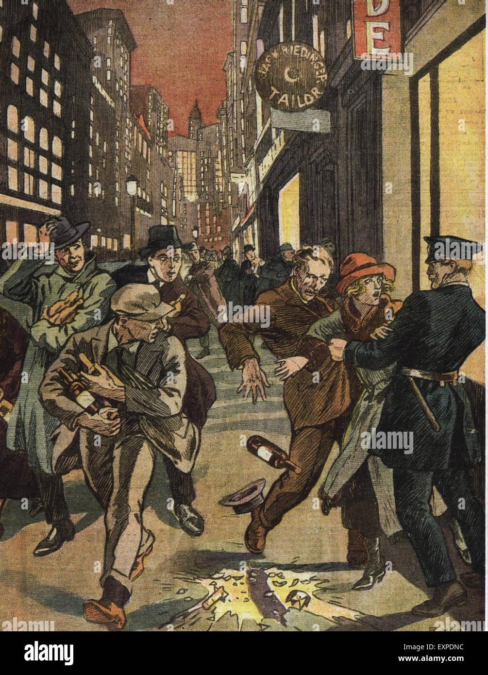 1920er Jahren USA Verbot Magazin Platte Stockbild