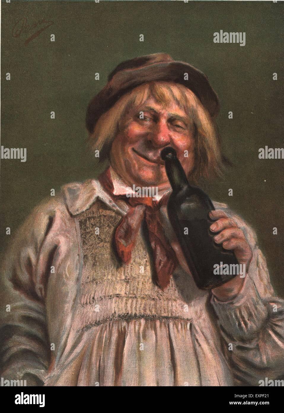 1890er Jahren UK betrunken Portraits Magazin Platte Stockbild