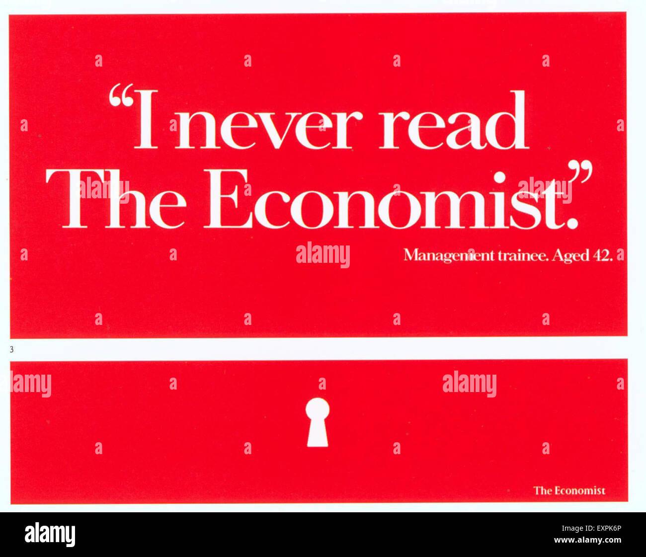 1990er Jahre UK der Ökonom Stockbild