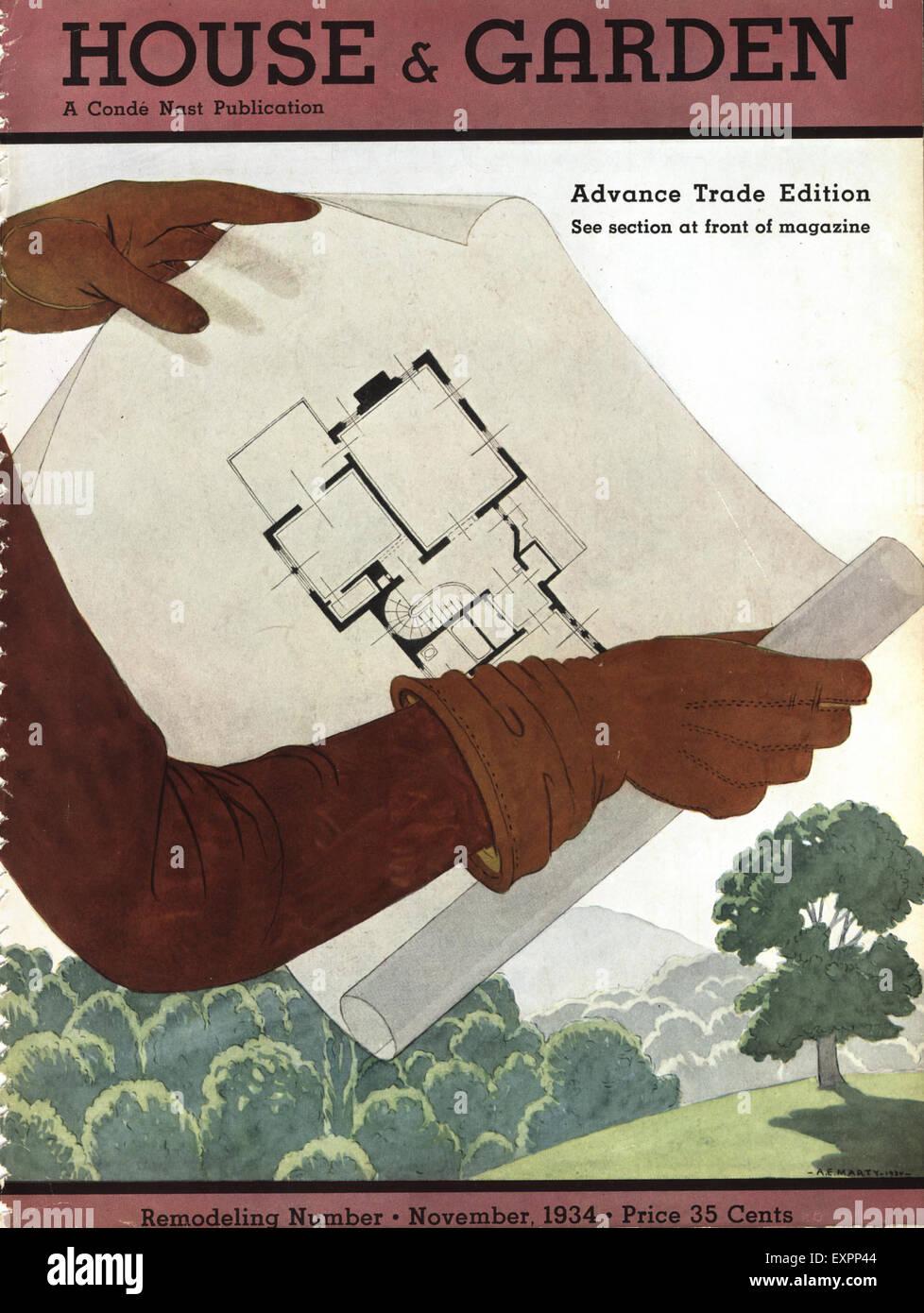 1930er Jahre USA-Haus und Garten-Magazin-Cover Stockfoto, Bild ...
