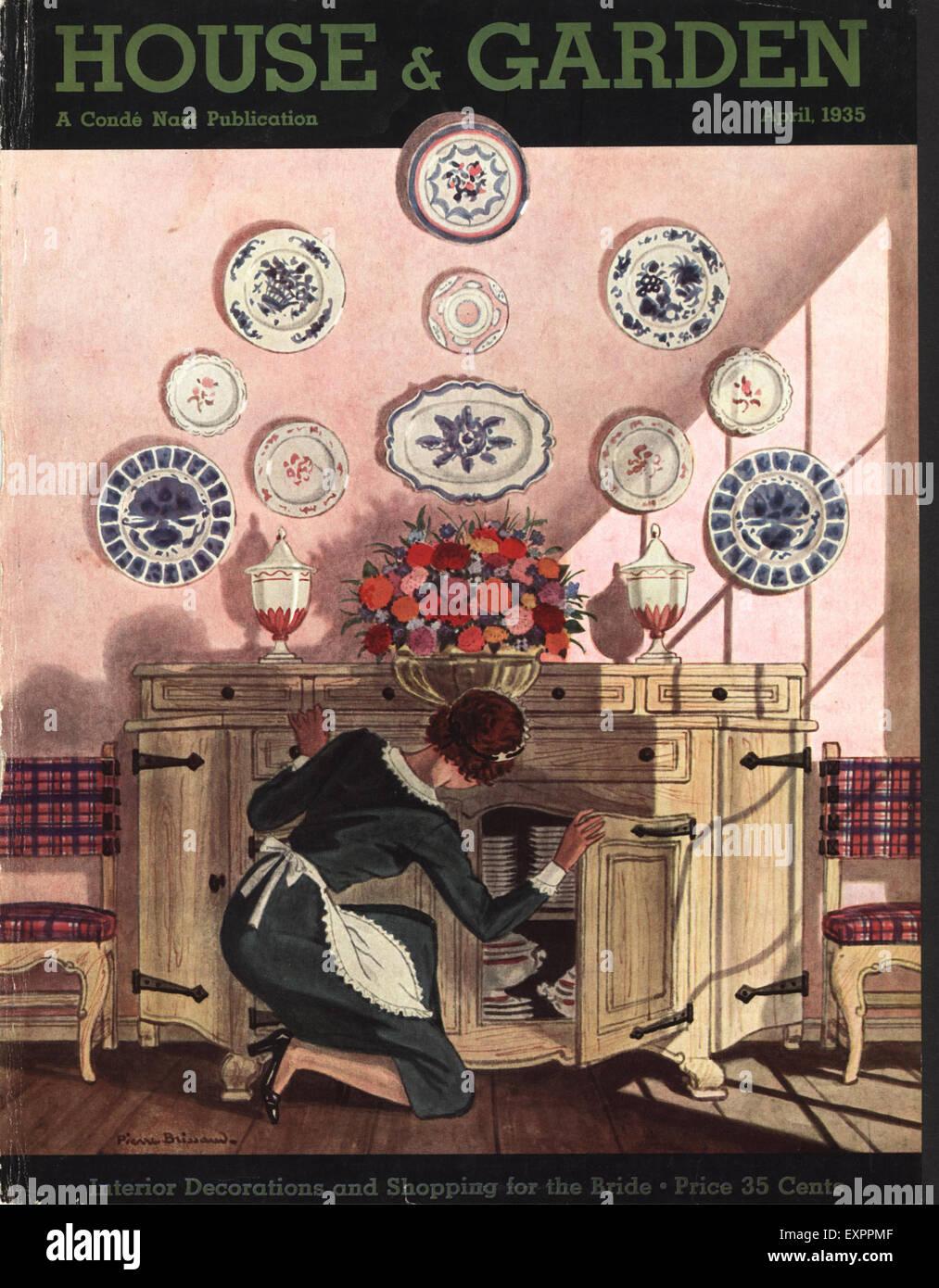 1930er Jahre USA-Haus und Garten Zeitschrift Anzeige Stockfoto, Bild ...