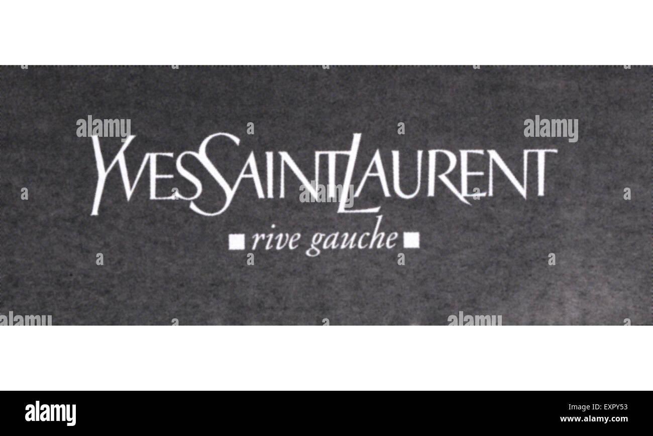2000er Jahre UK Yves Saint Laurent Logo Stockbild