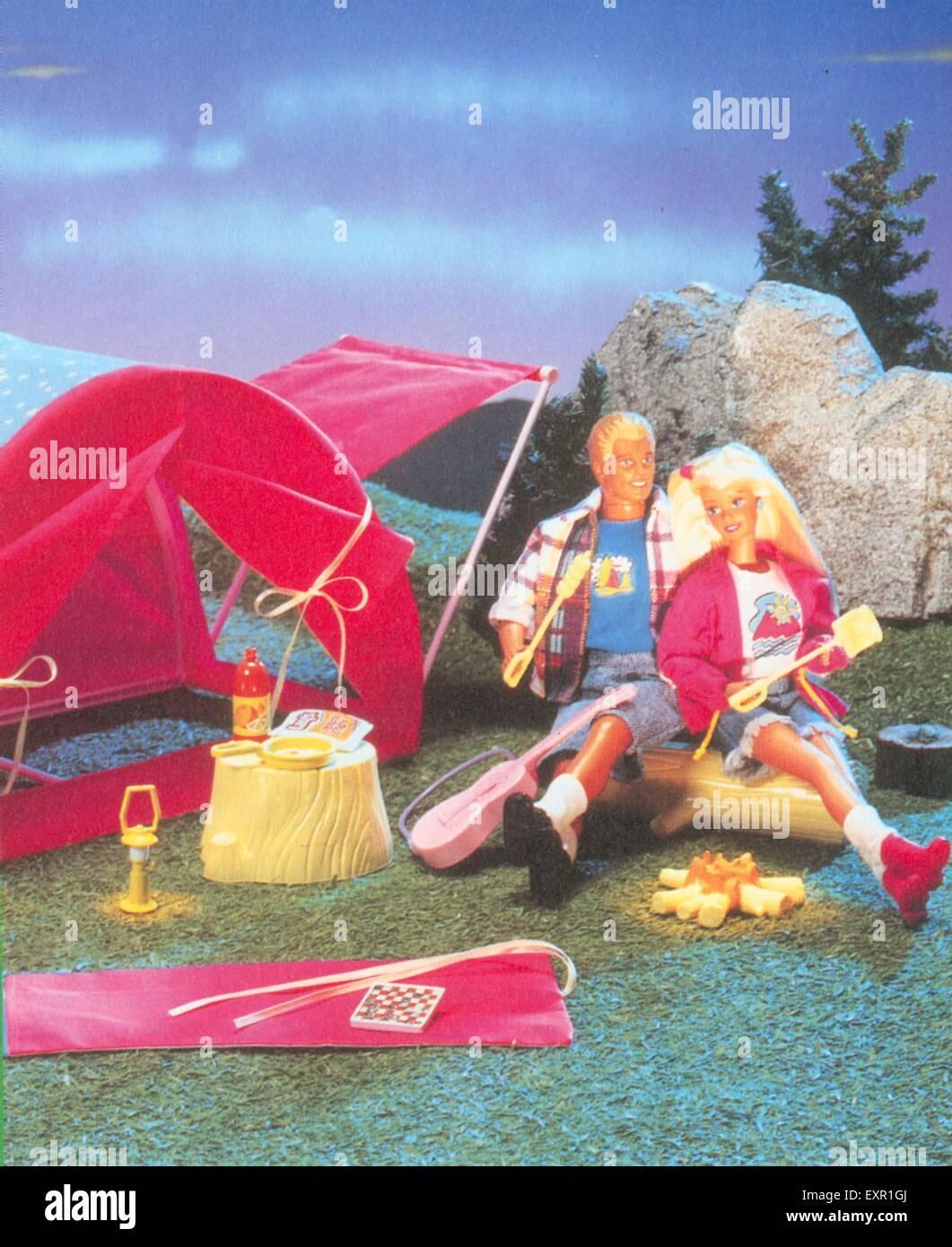 1980er Jahre UK Barbie Promotion Stockbild
