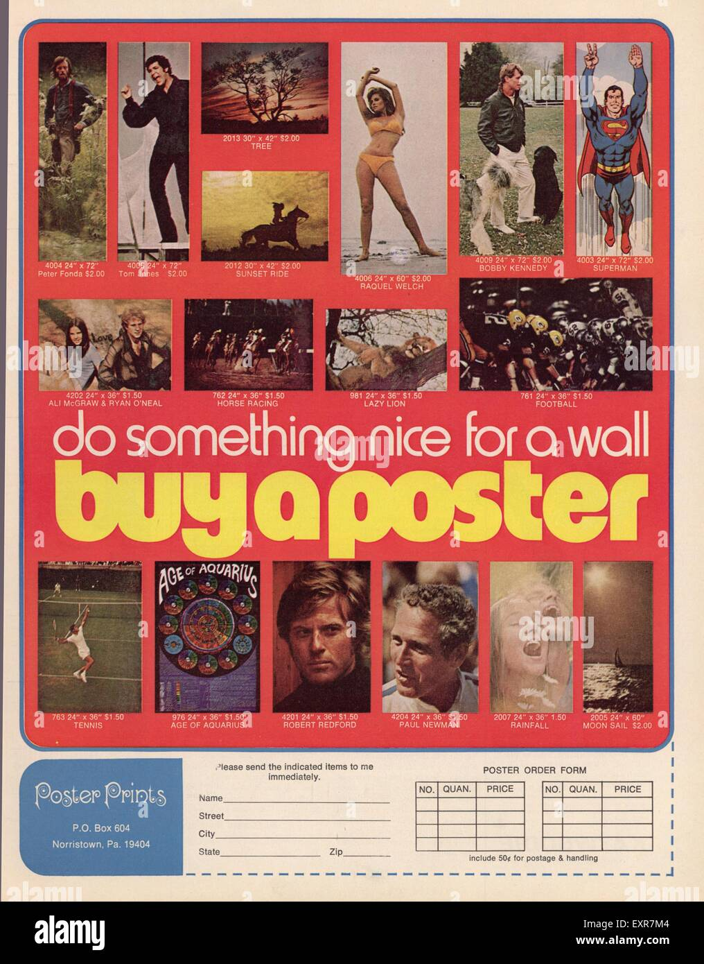 1960er Jahre UK Poster Drucke Poster Stockbild