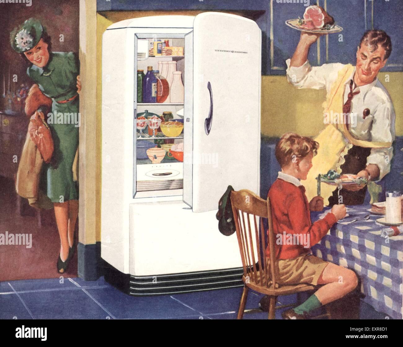 1940er jahren usa general electric k hlschr nke magazin. Black Bedroom Furniture Sets. Home Design Ideas
