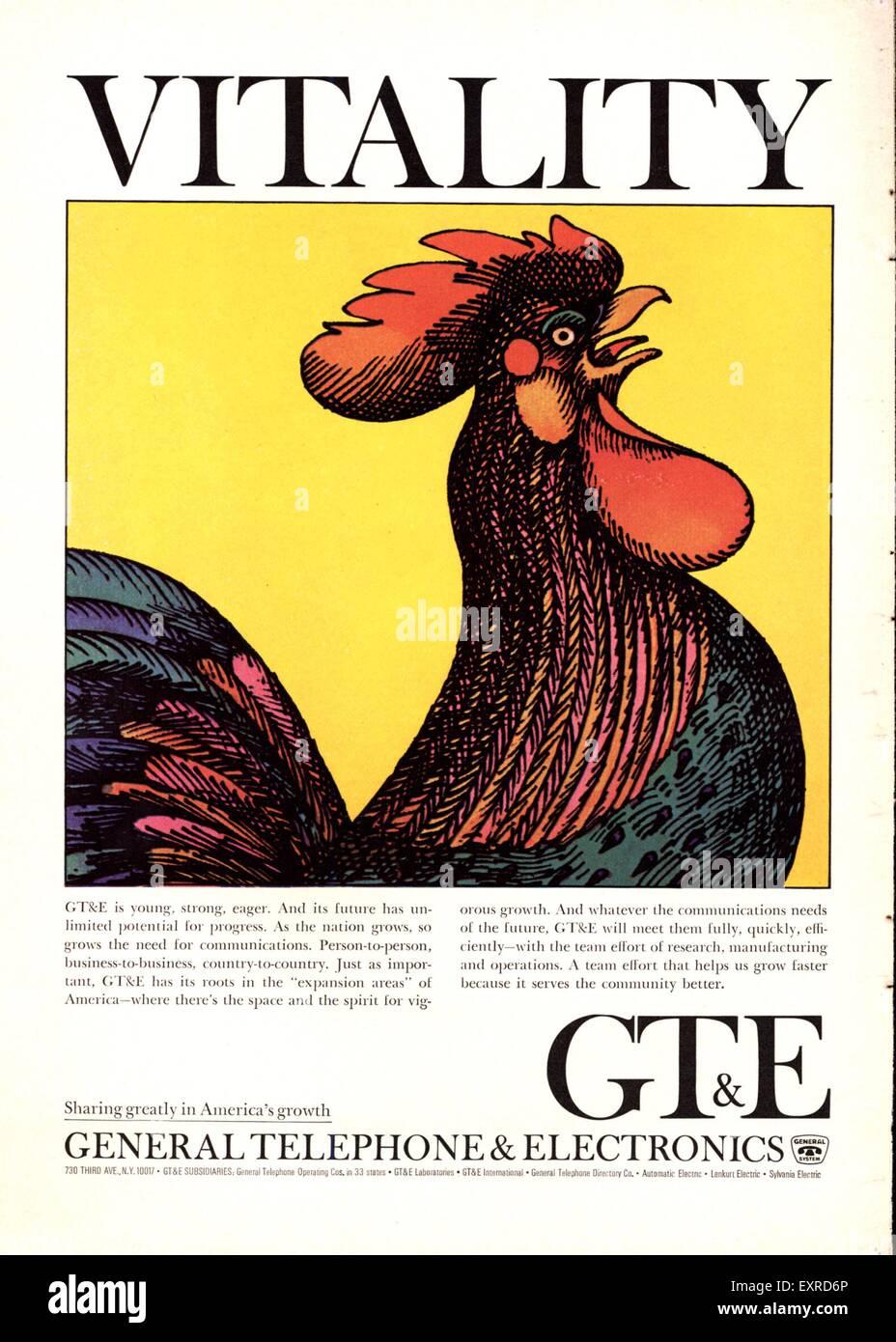 1950er Jahren USA GT und E Magazin Anzeige Stockbild