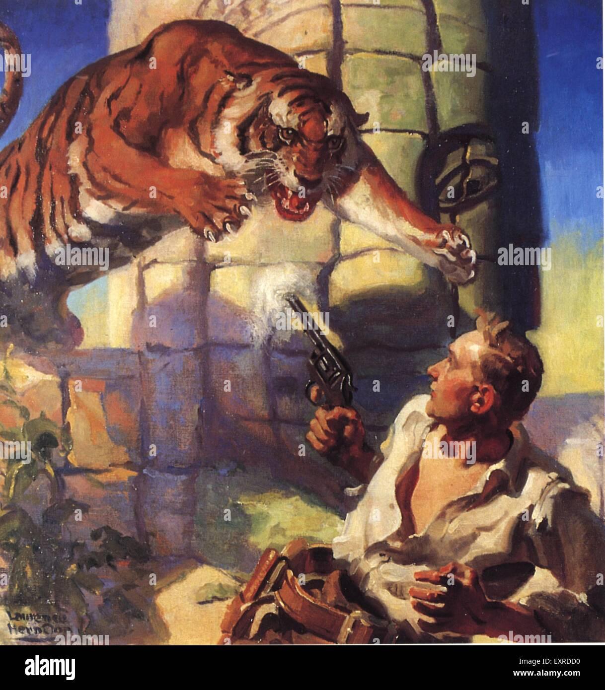 1930er Jahren USA Pulp Fiction Buch Platte Stockbild