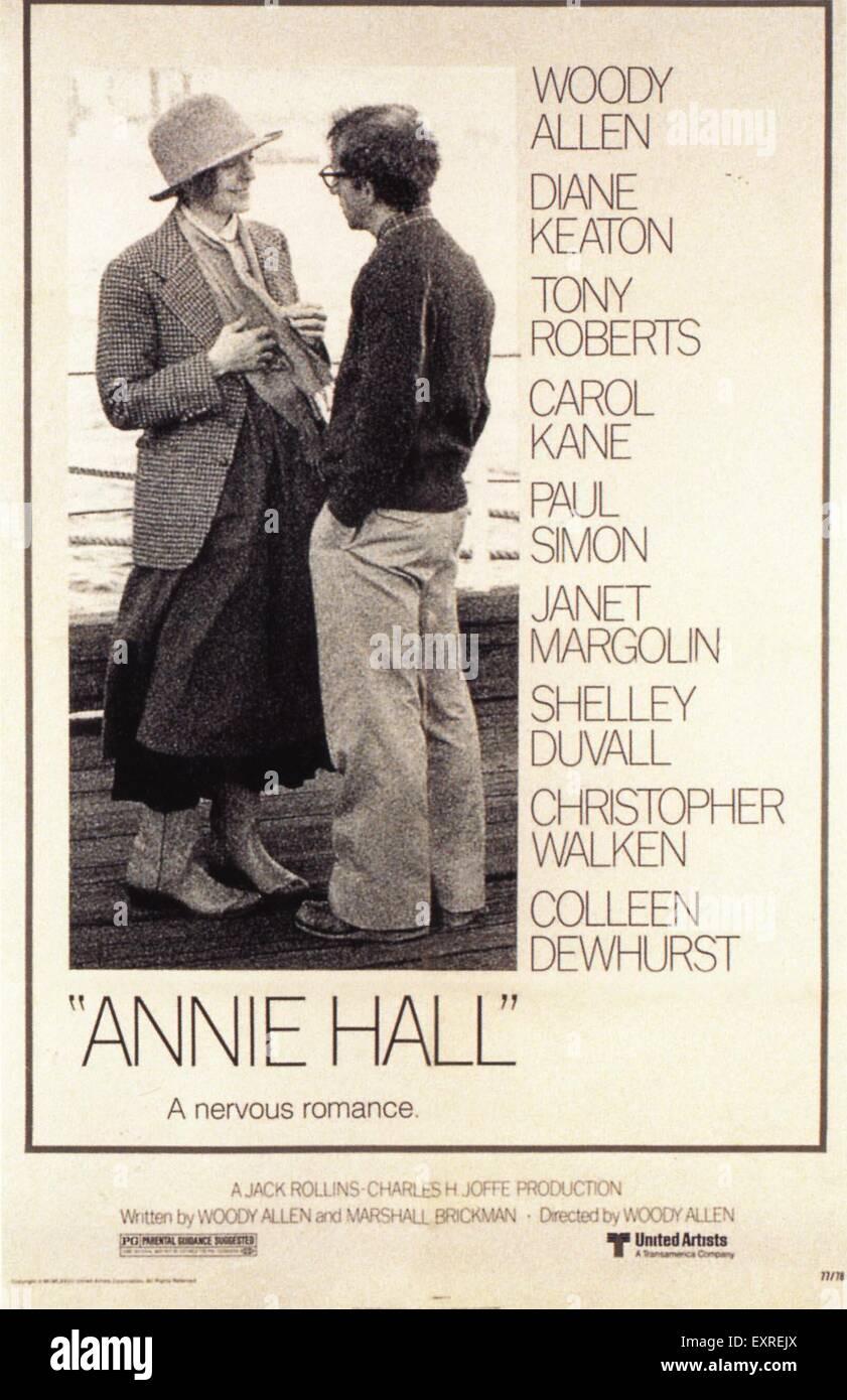 1970er Jahren USA Annie Hall Filmplakat Stockbild
