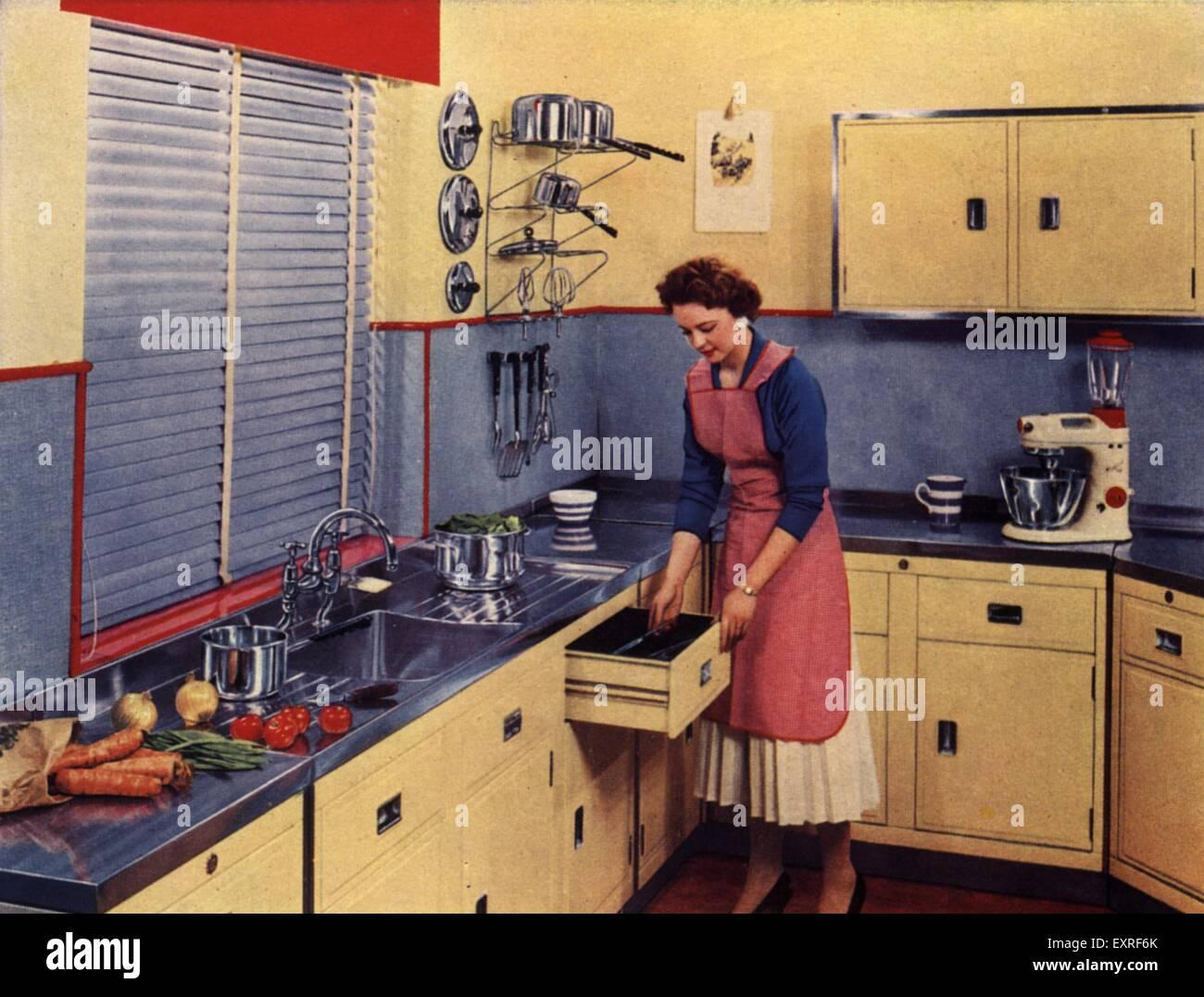 1950er Jahre UK Küchen Magazin Anzeige Stockfoto, Bild: 85339371 - Alamy