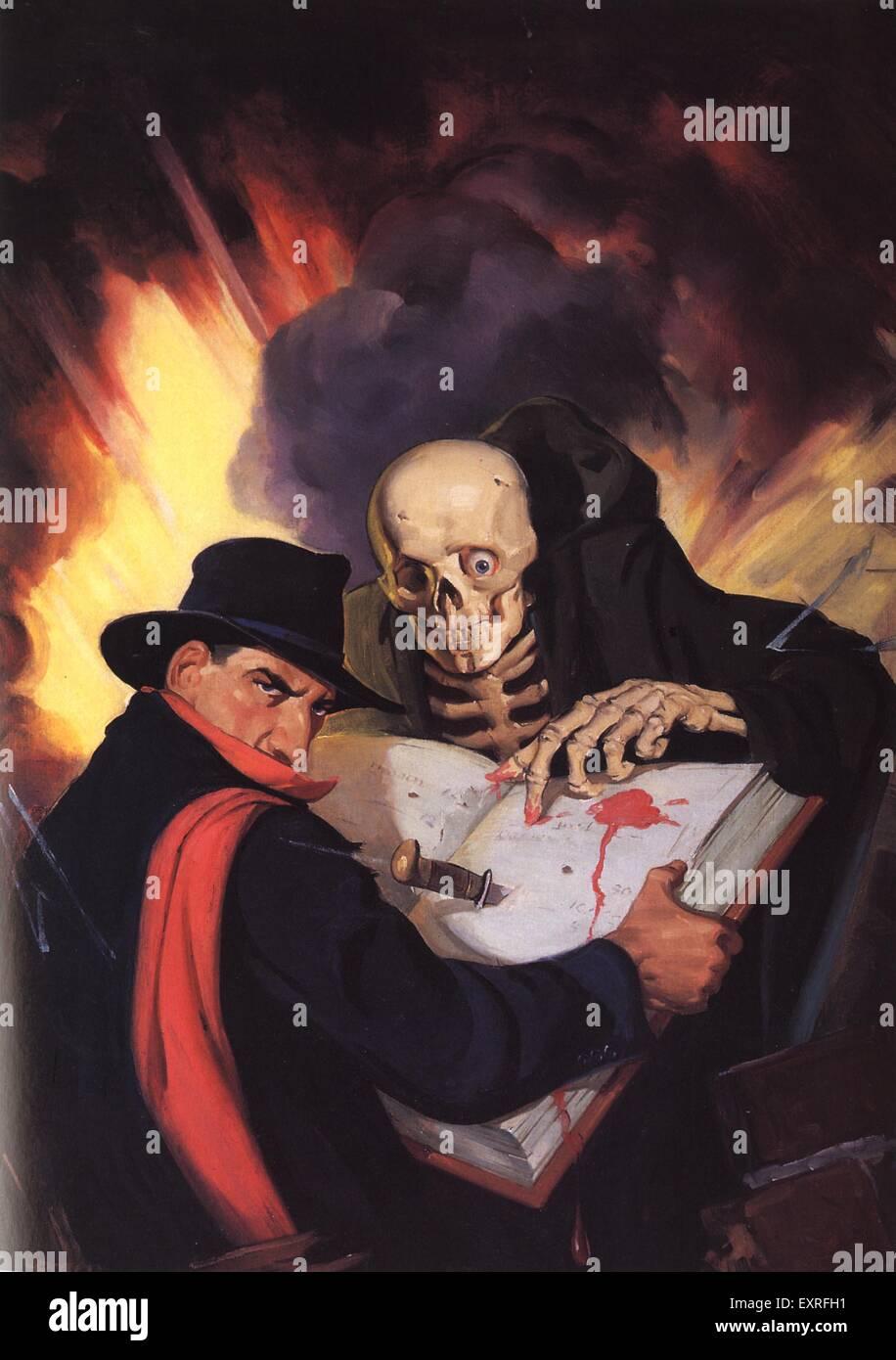 1940er Jahren USA Pulp Fiction Magazin Platte Stockbild