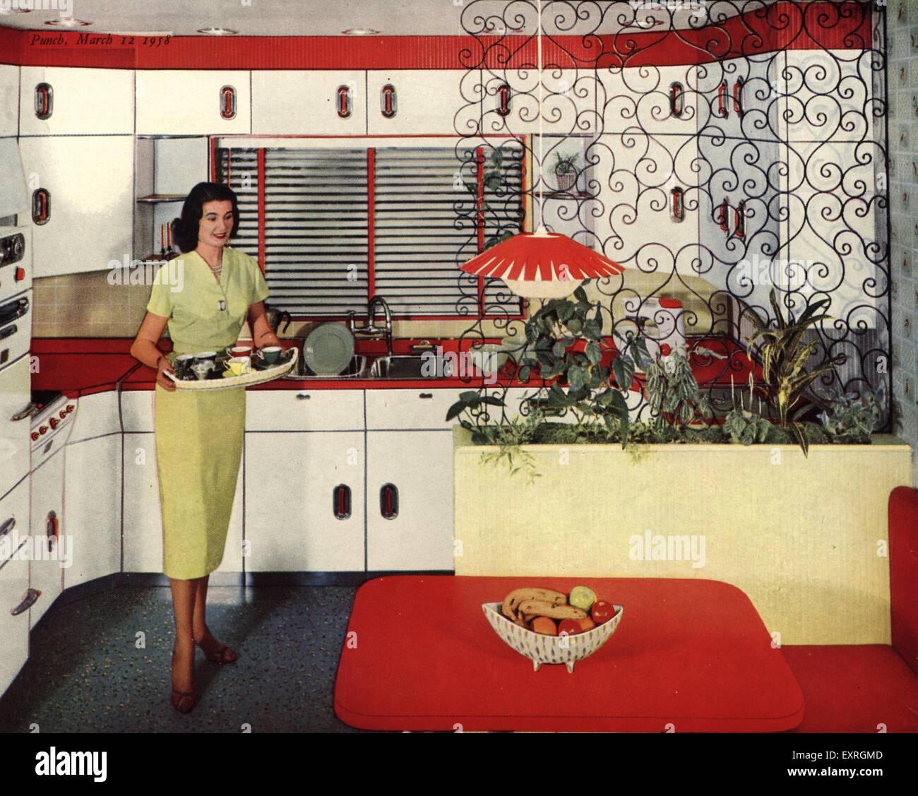 1950er Jahre UK Küchen Magazin Anzeige (Detail Stockfoto, Bild ...
