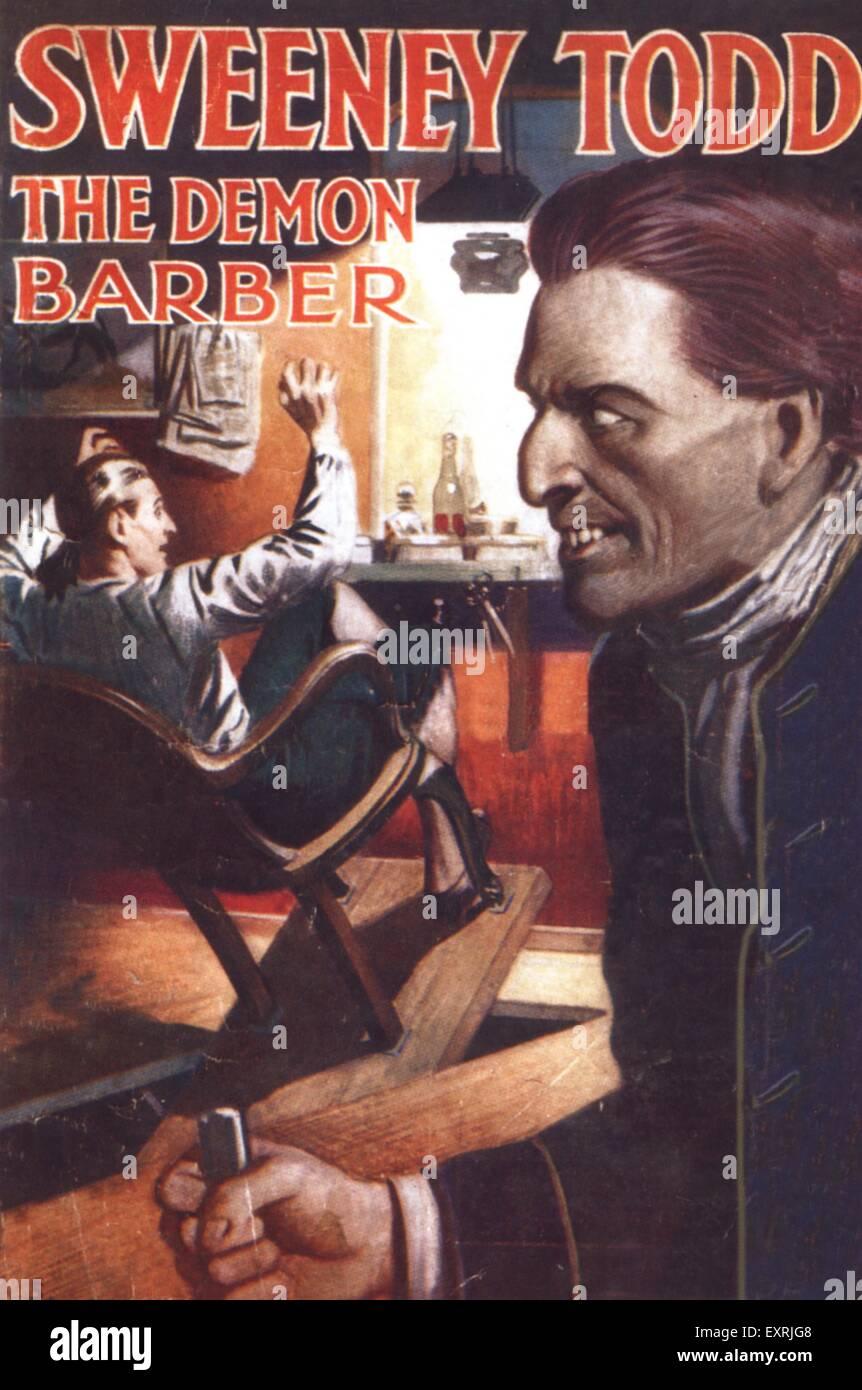 1920er Jahre UK Sweeney Todd der Demon Barber Book Cover Stockbild