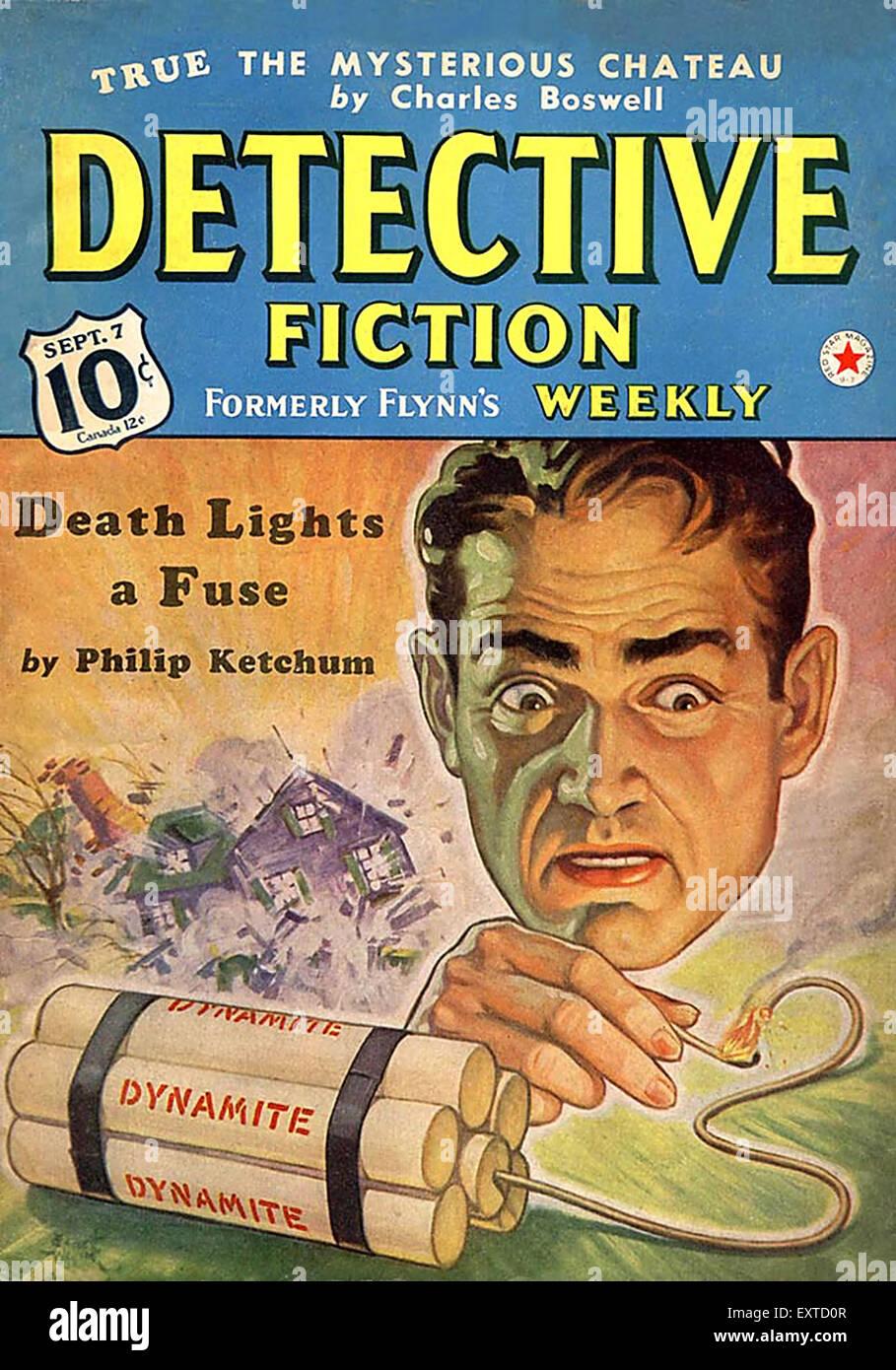 1940er Jahren USA Detektive Fiction Magazine Cover Stockbild
