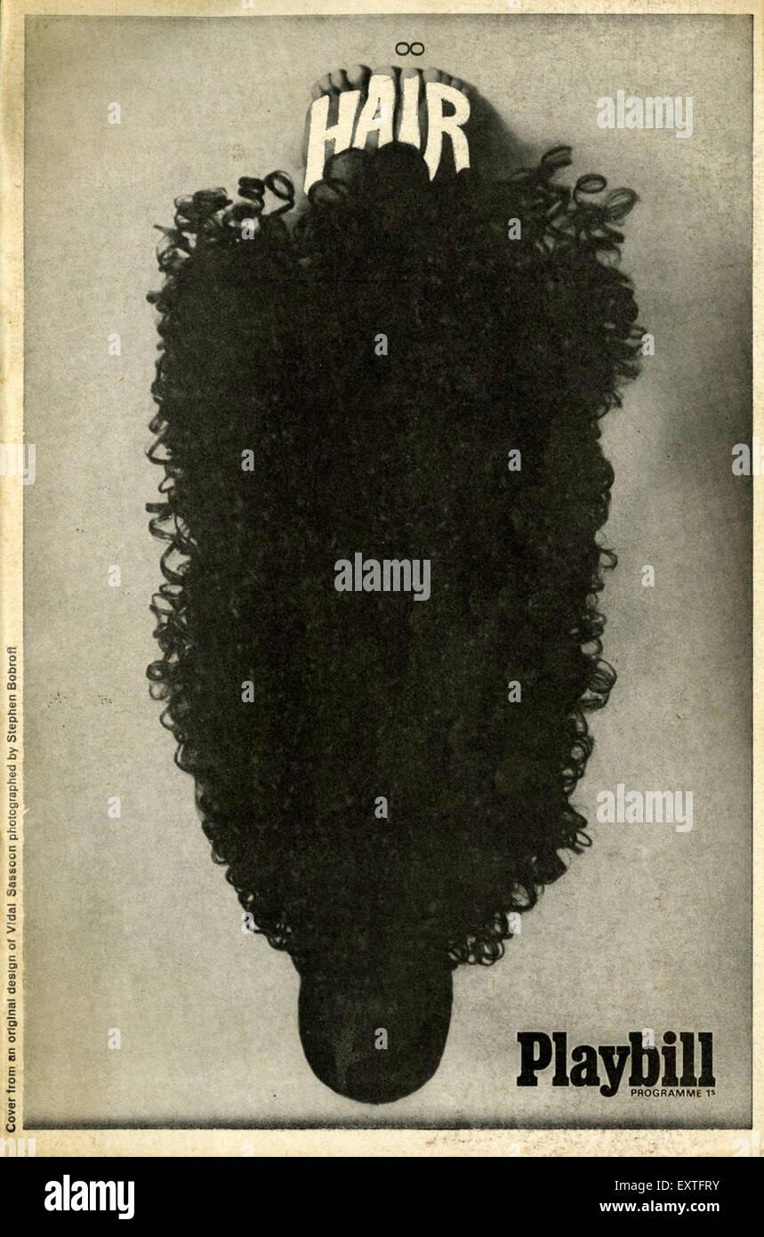 1960er Jahre UK Haare Poster Stockfoto