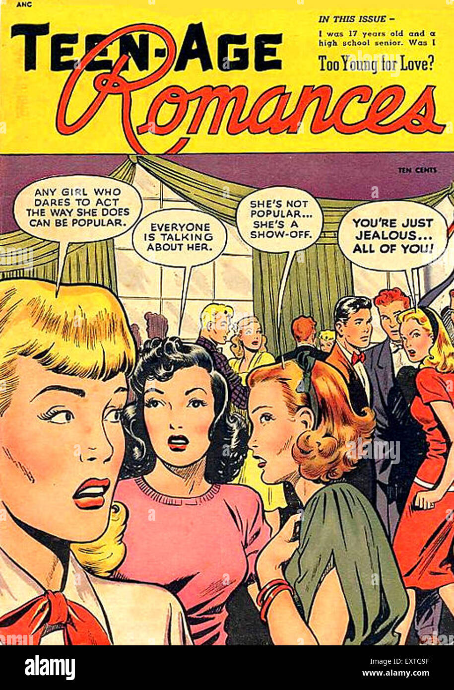 1950er Jahren USA Teen-Age Romanzen Comic / jährliche Abdeckung Stockbild