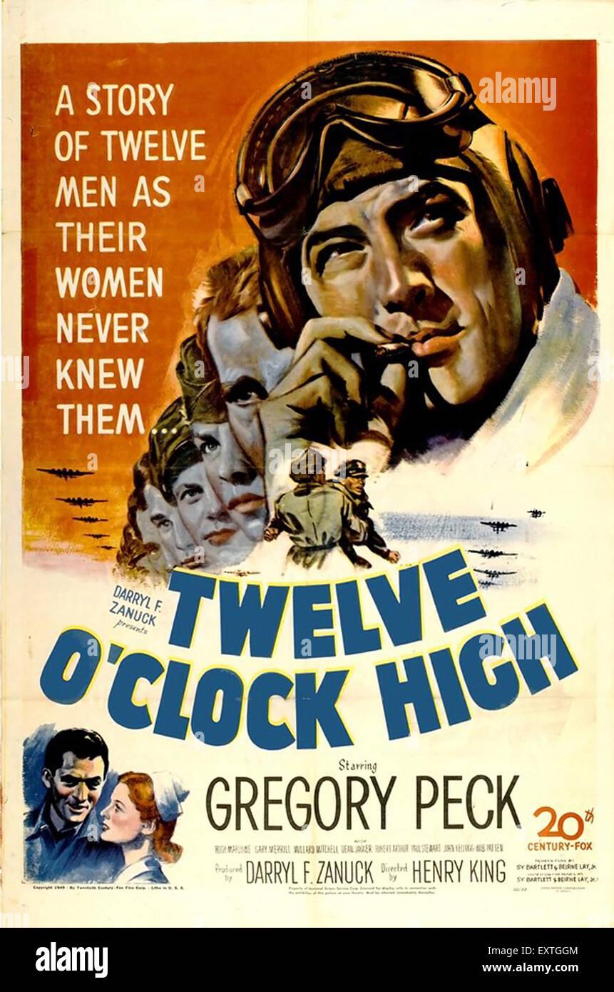 1940er Jahren USA zwölf O Clock hohe Filmplakat Stockbild