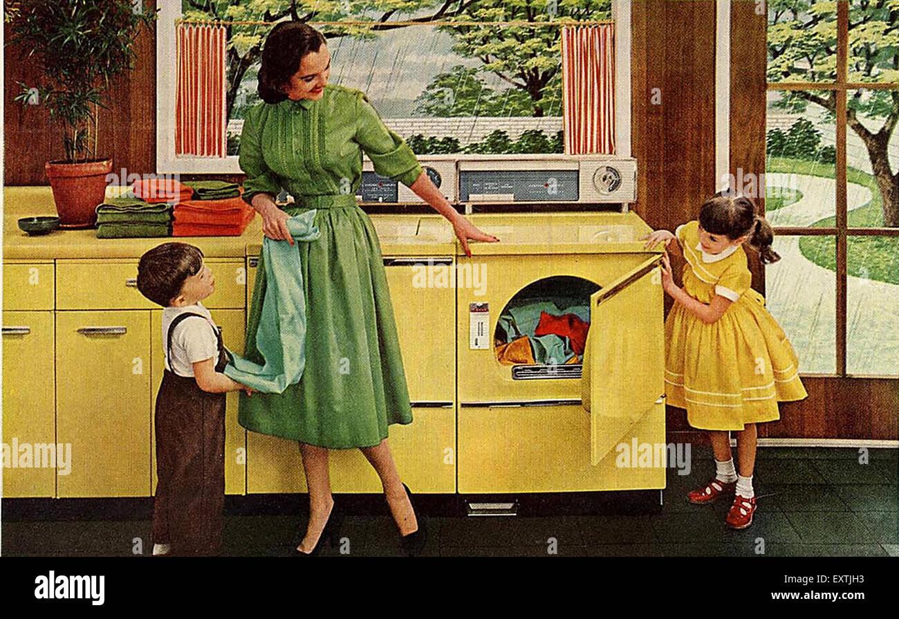 1950er Jahren USA General Electric Magazin Anzeige (Detail) Stockbild