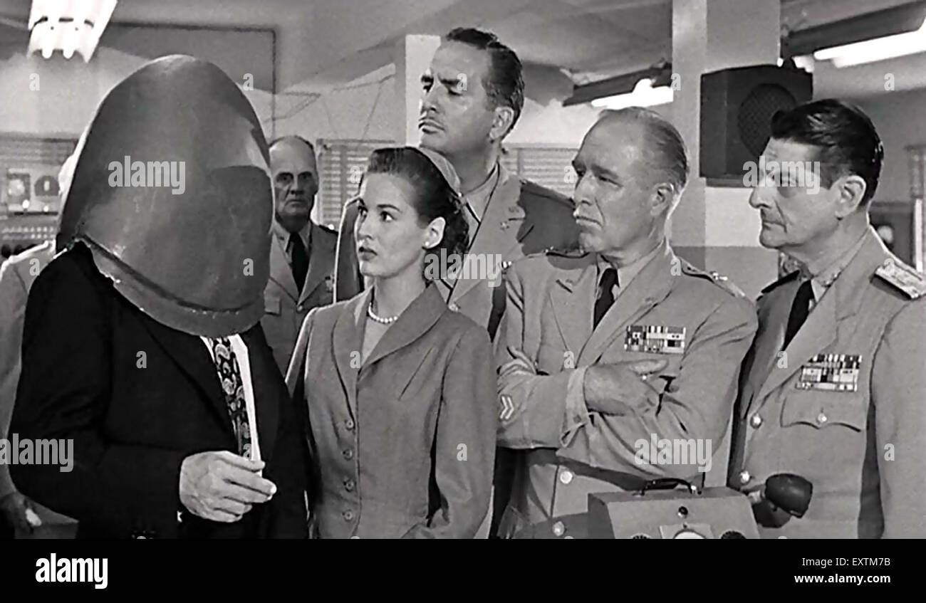 1950er Jahren USA kalten Krieges Humor Magazin Platte Stockbild