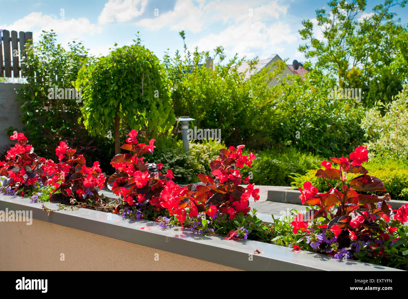 Balkon Bauen Haus Blume Blumen Grune Gartenstadt Heimat Europa