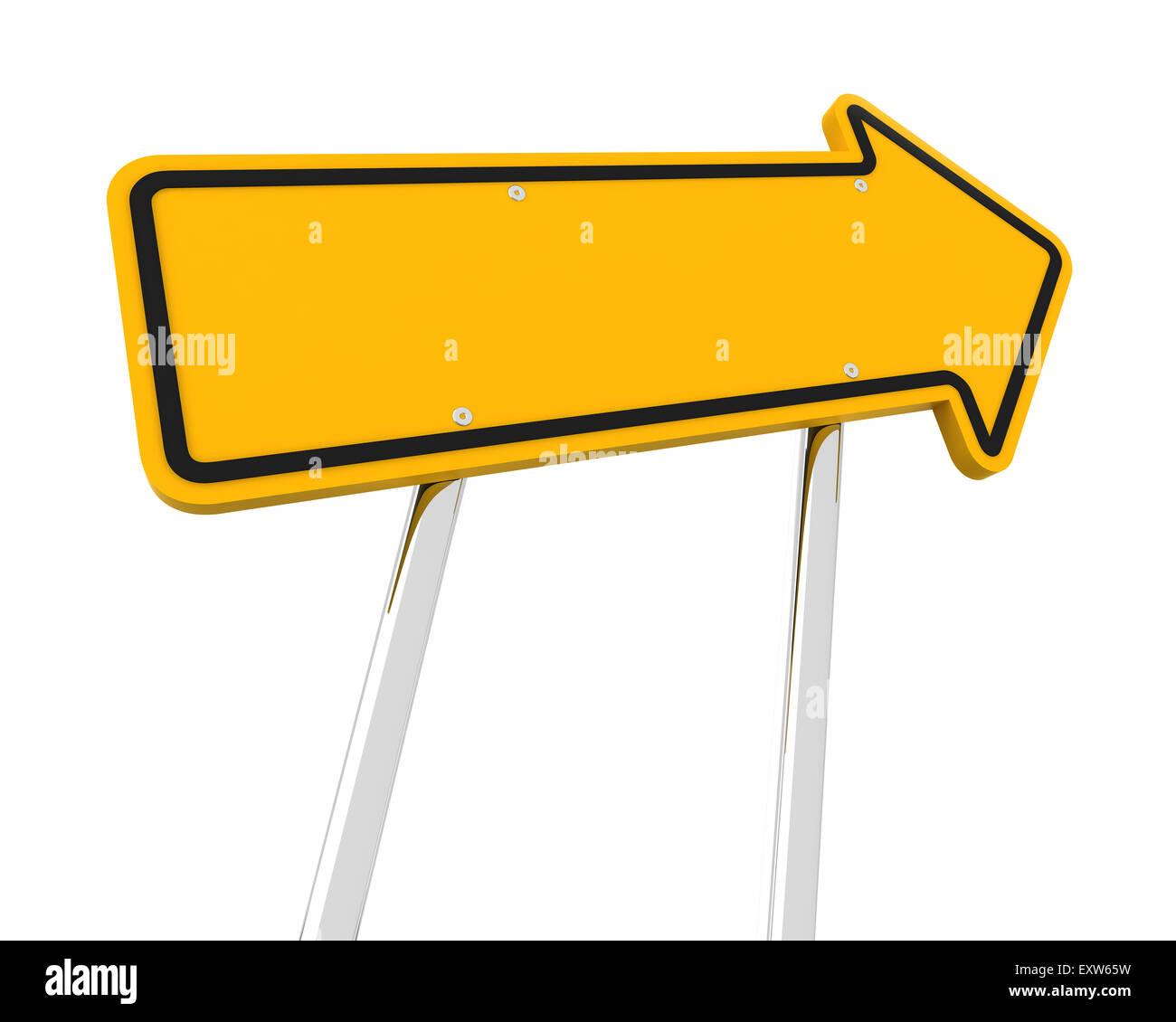 Aufsteigende Pfeil Straße Zeichen Stockbild