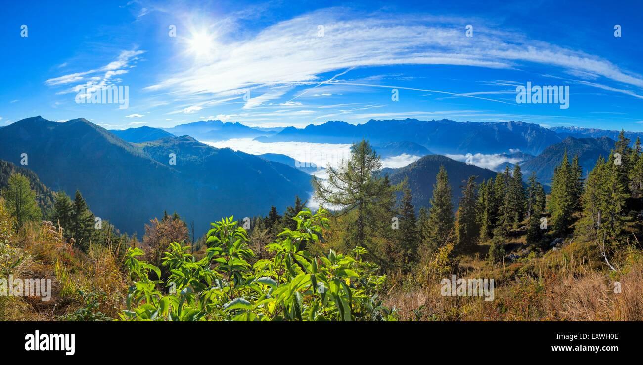 Maxhighres, Panorama, Im Freien, Lammertal, Tennengebirge, Sonne, Tal, Dachstein, Dachsteingebirge, Nördliche Stockbild