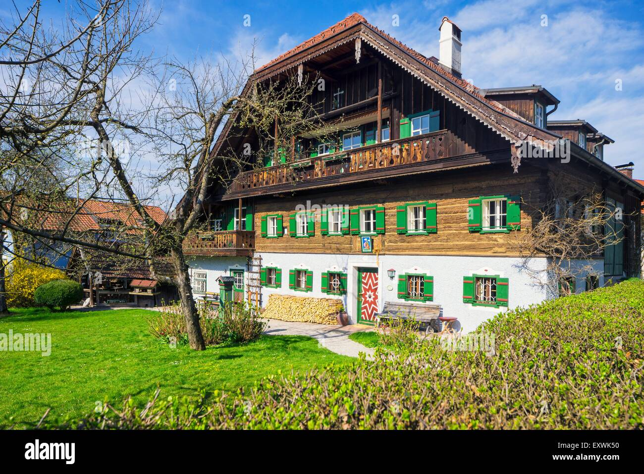 flachgau bauernhaus in elsbethen salzburg land sterreich stockfoto bild 85386364 alamy. Black Bedroom Furniture Sets. Home Design Ideas