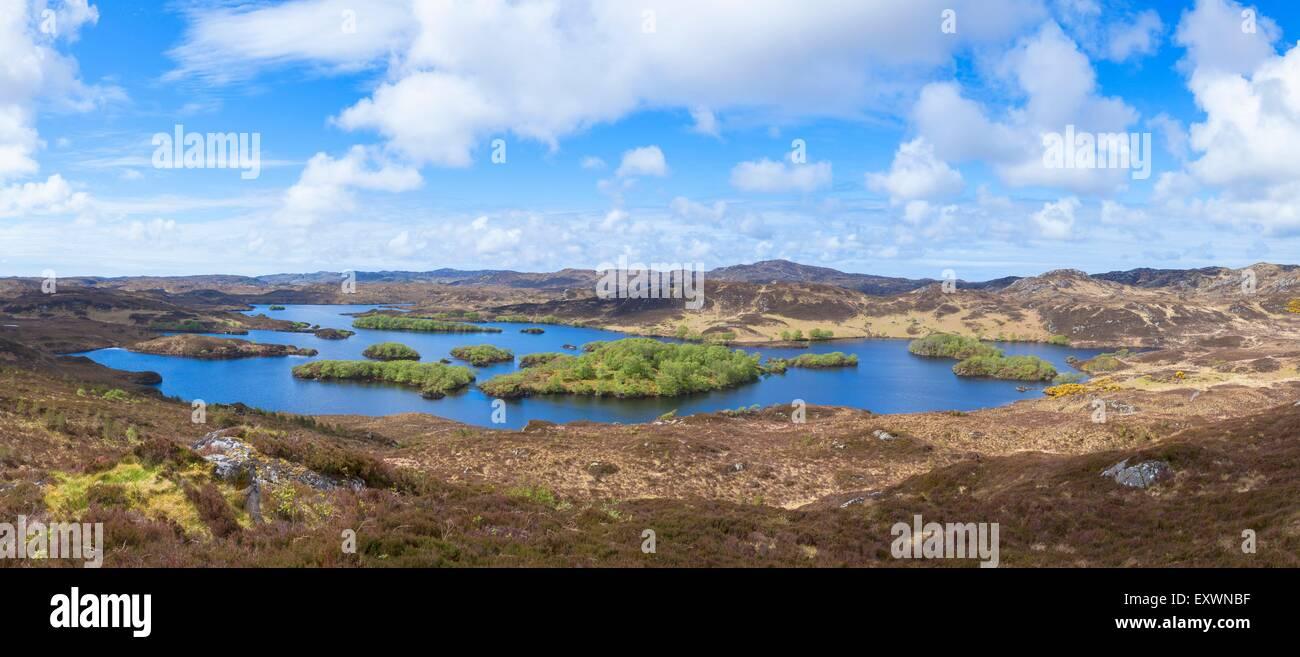 Loch Beannach Loch eine t-Sabhail-Schaltung, Schottland, Großbritannien, Europa Stockbild