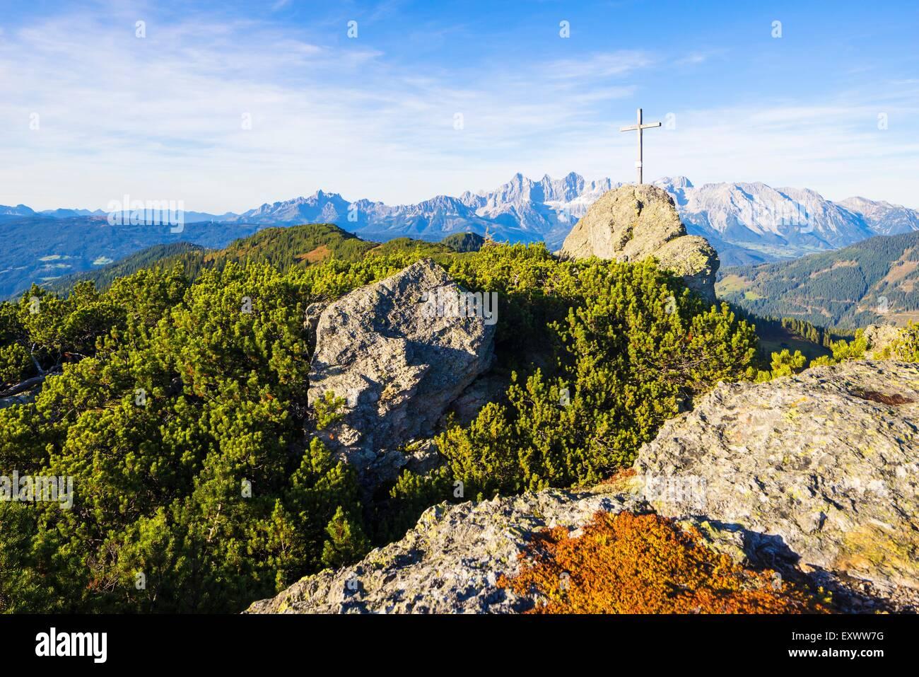 Landschaft, Berg, Gebirge, Alpen, Europa, Westeuropa, Mitteleuropa, Österreich, Salzburger Land, Himmel, Ruhe, Stockbild