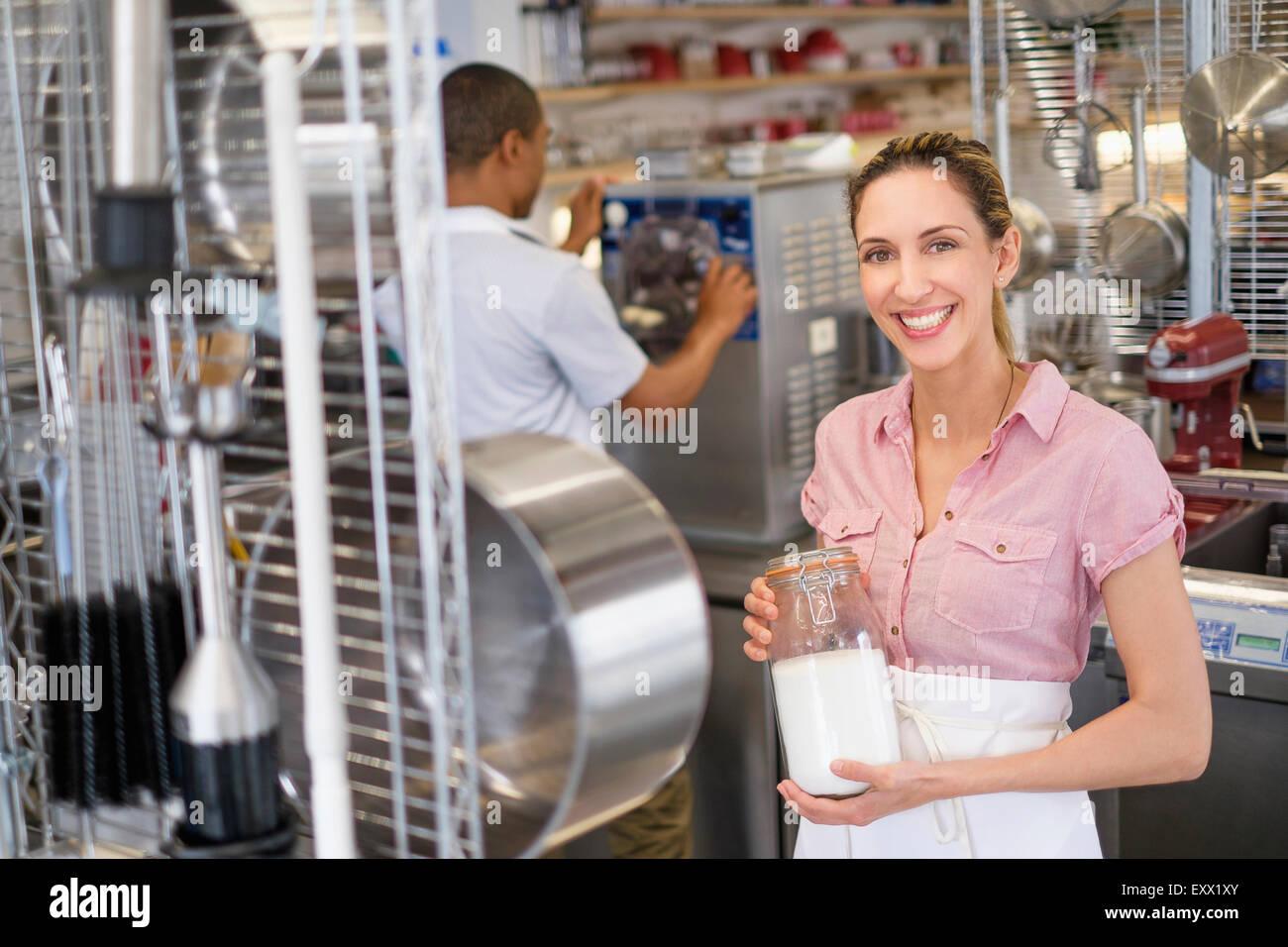 Porträt von Bäckerei-Inhaber Stockfoto