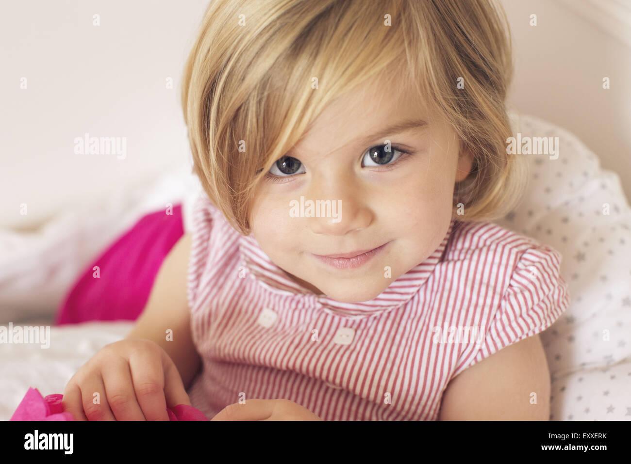 Kleines Mädchen, Porträt Stockbild