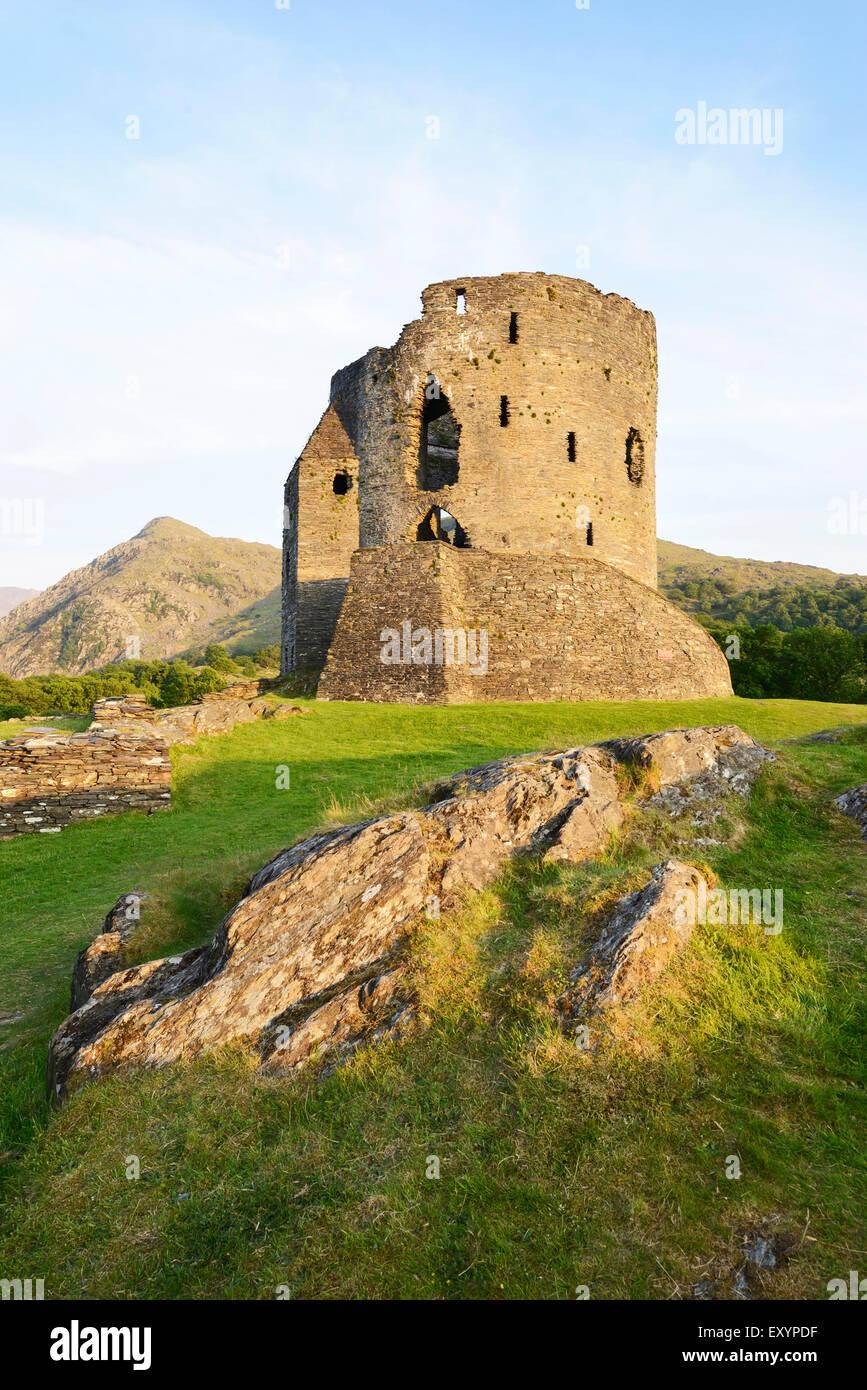 Dolbadarn Burg in Llanberis, Snowdonia. Stockfoto