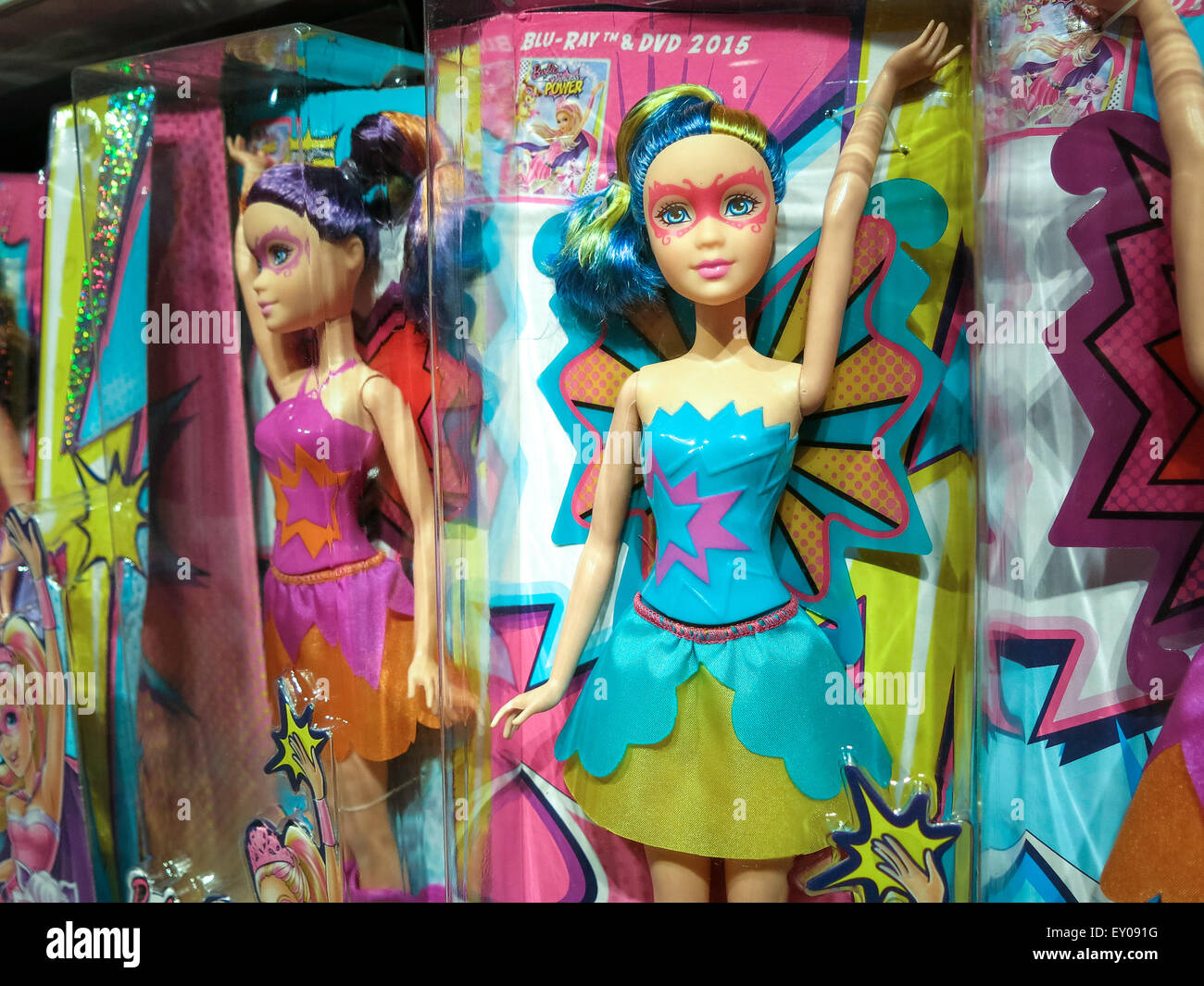 Barbie Puppen Toys R Us Store Interieur Times Square New York