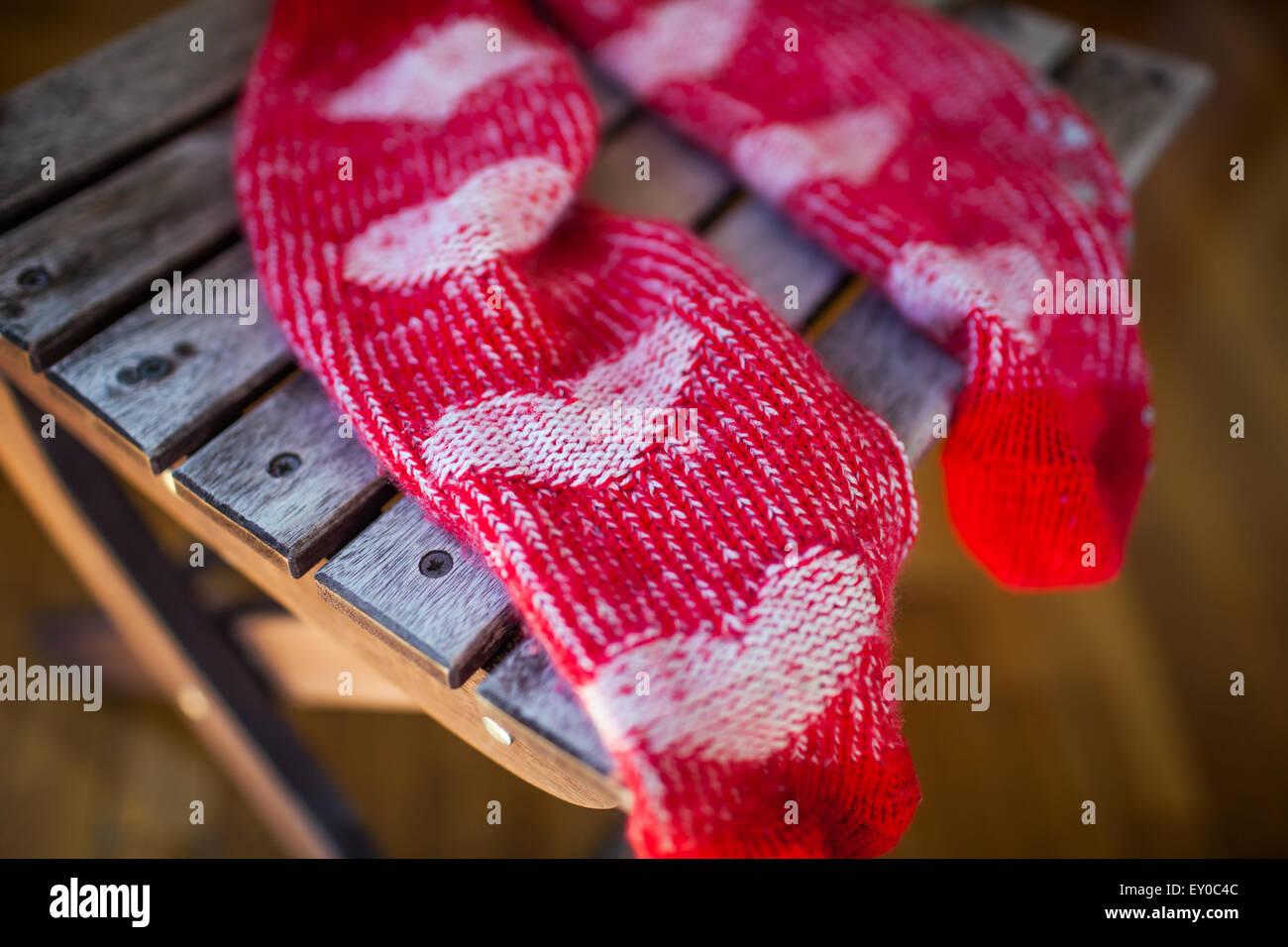 Perfect Rotes Herz Strickmütze Muster Component - Decke Stricken ...