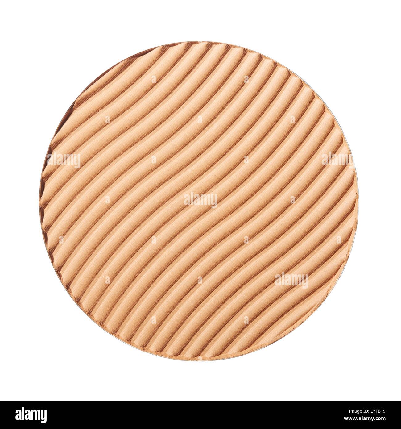 Braune erröten, wellig Make-up Stockbild