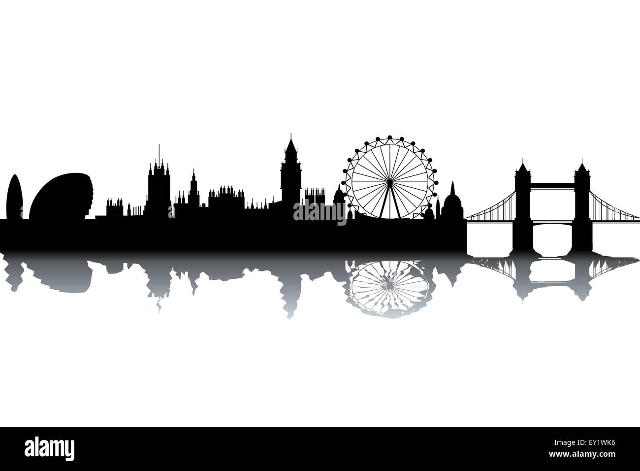 london skyline schwarz wei vektor illustration vektor abbildung bild 85479274 alamy. Black Bedroom Furniture Sets. Home Design Ideas