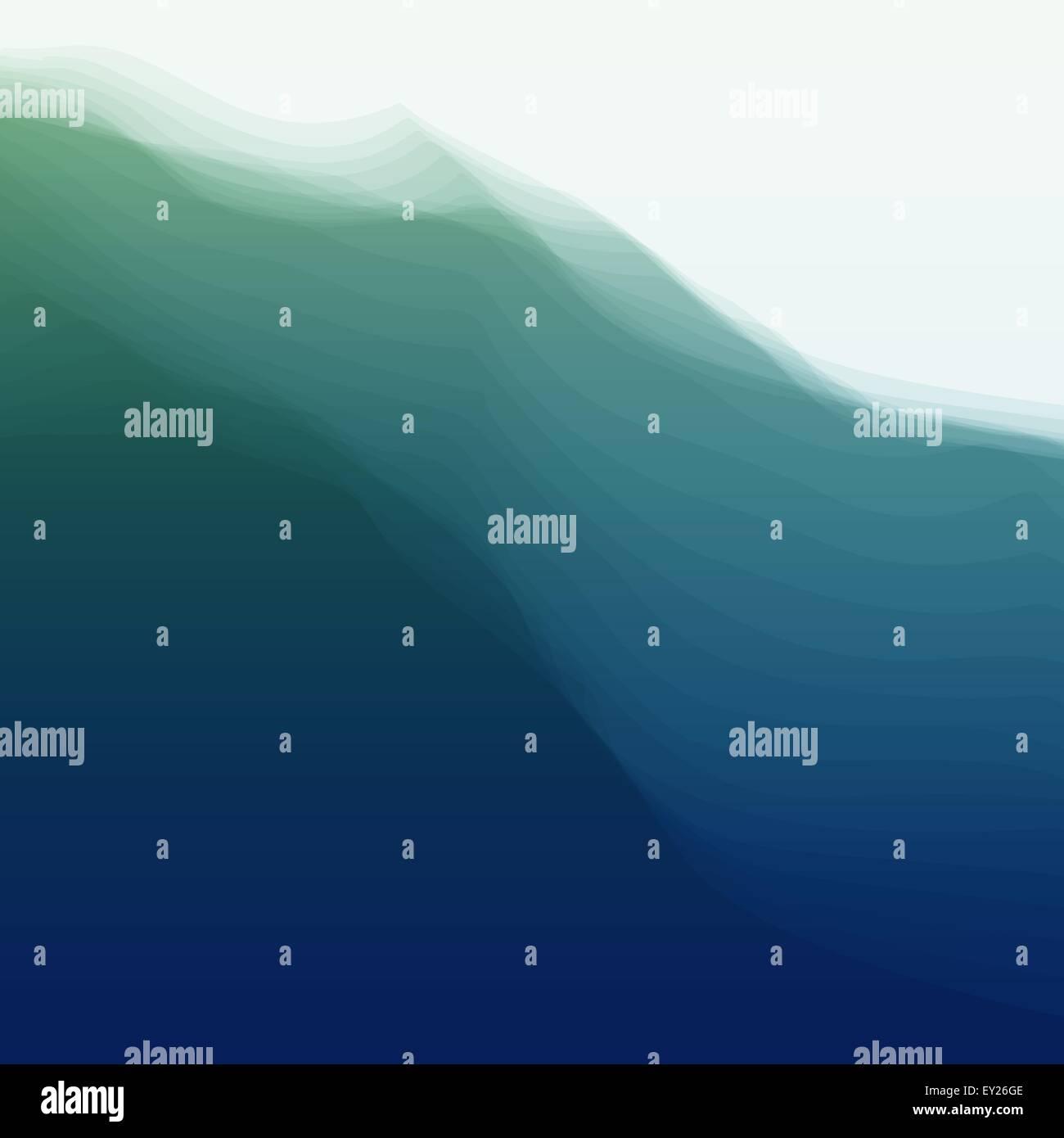 Wasserwelle. Vektor-Illustration für Ihr Design. Stockbild