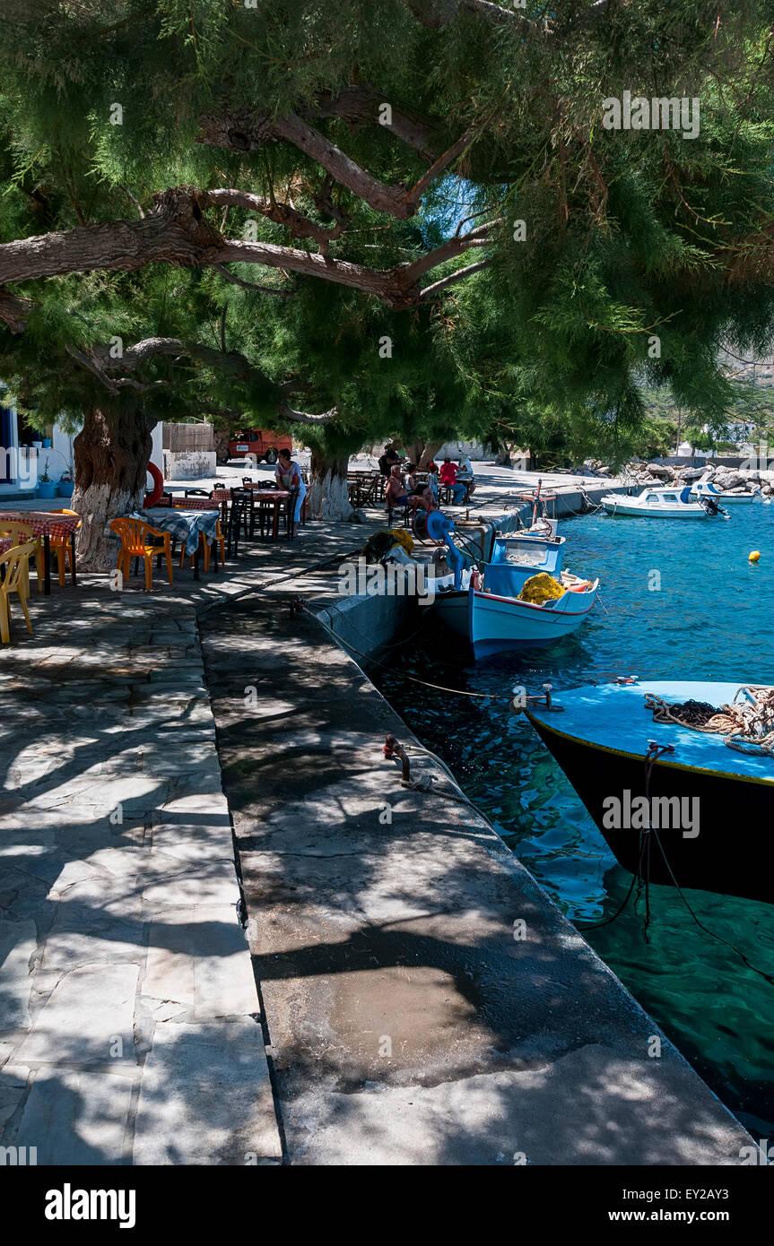 Agios Antonios, Tilos. Stockbild