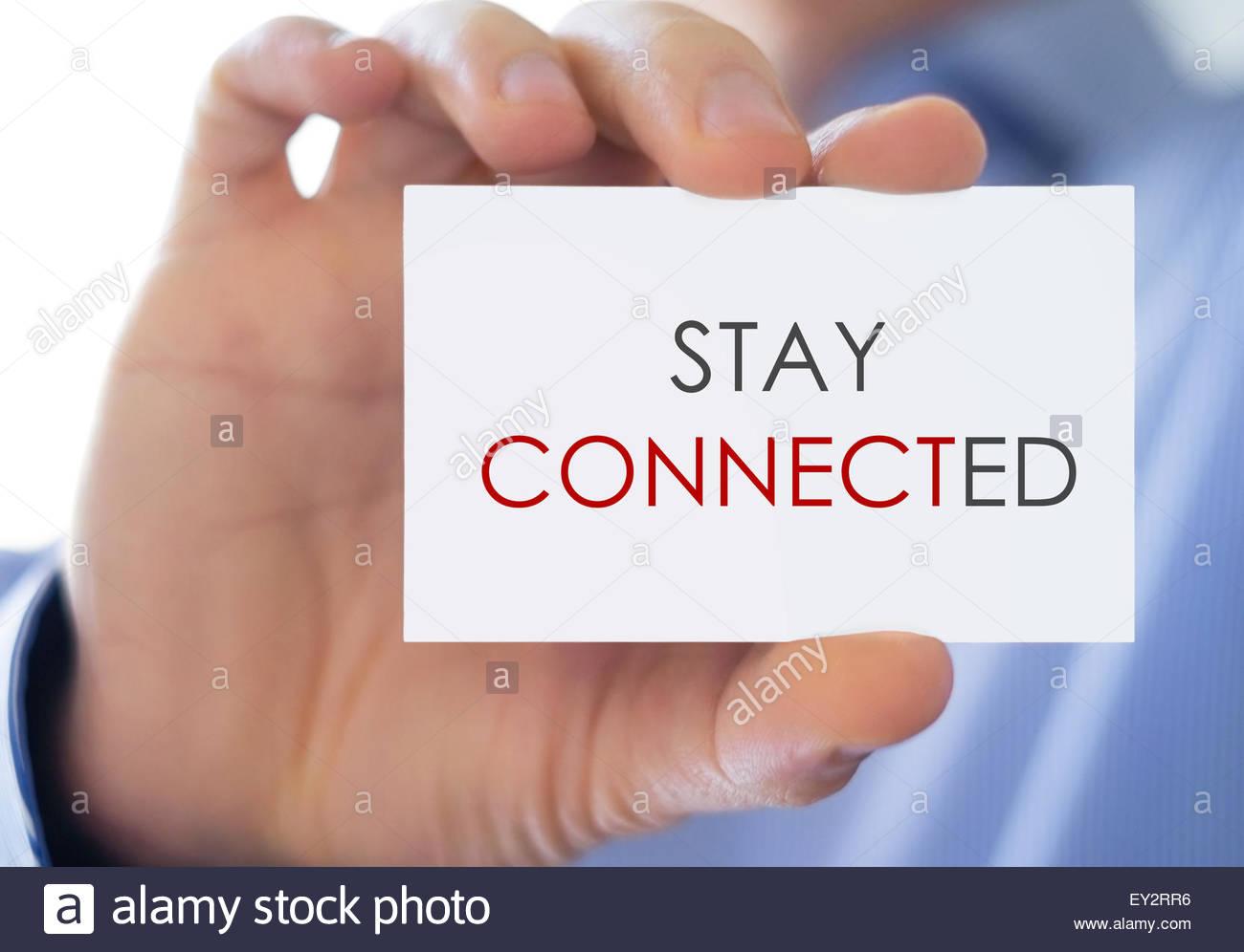 Bleiben Sie in Verbindung Stockbild