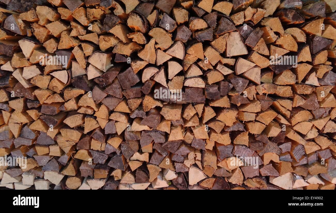 Haufen von Holz Stockfoto