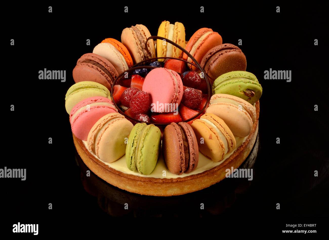 Macaron-Tarte Stockbild
