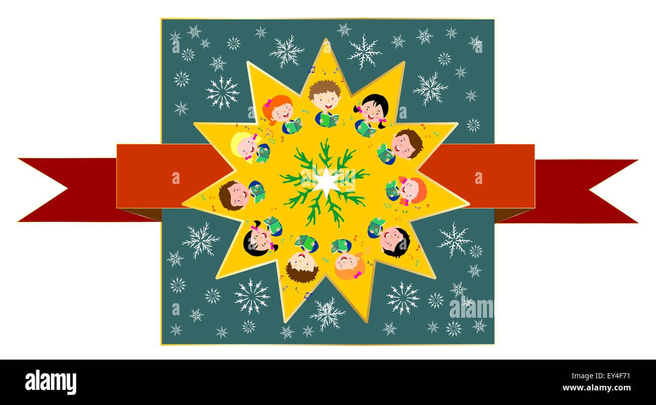 Kinder singen Weihnachtslieder Stockfoto, Bild: 85536949 - Alamy