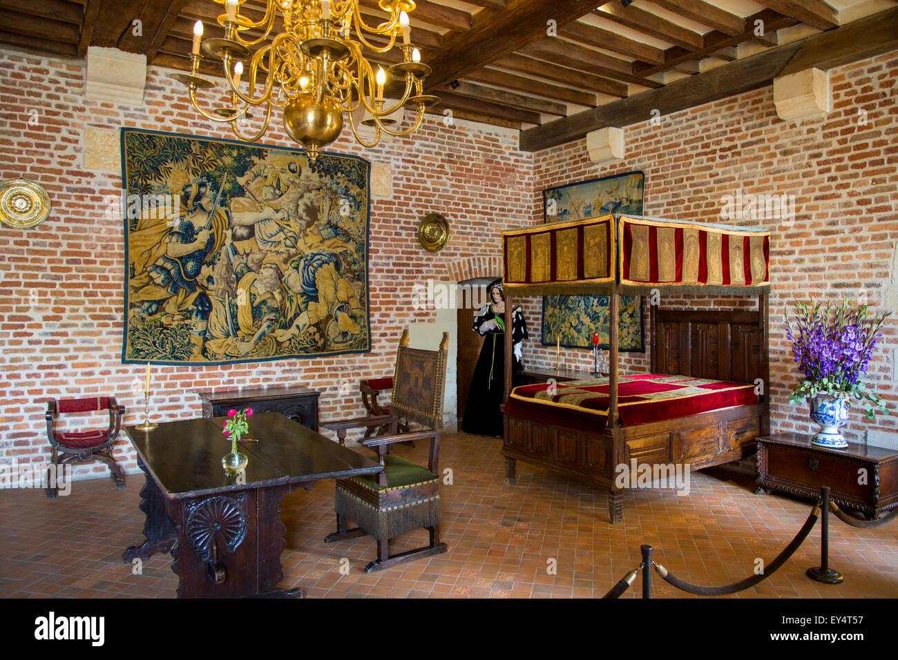 Schlafzimmer im Schloss Clos Luce - Haus von Leonardo da ...