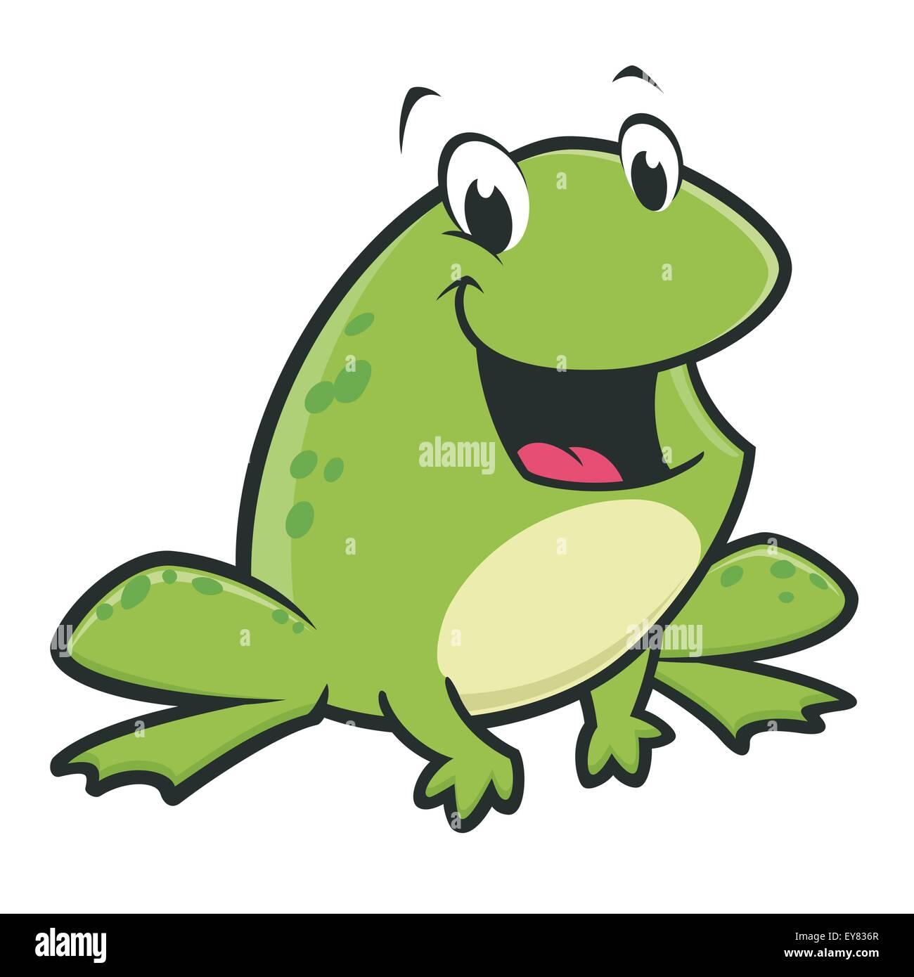 Lustiger frosch cartoon vektor abbildung bild 85615343 alamy - Frosch auf englisch ...